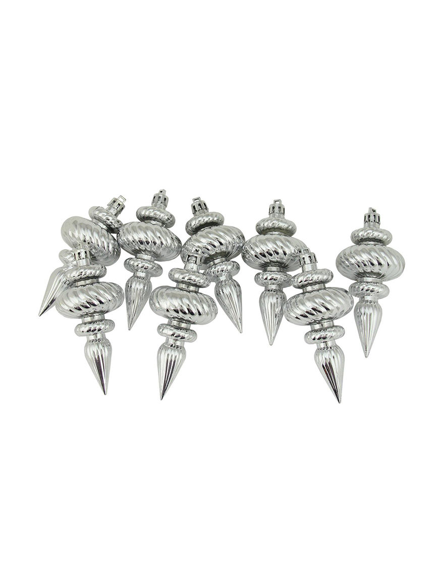 Northlight Silver Ornaments Holiday Decor