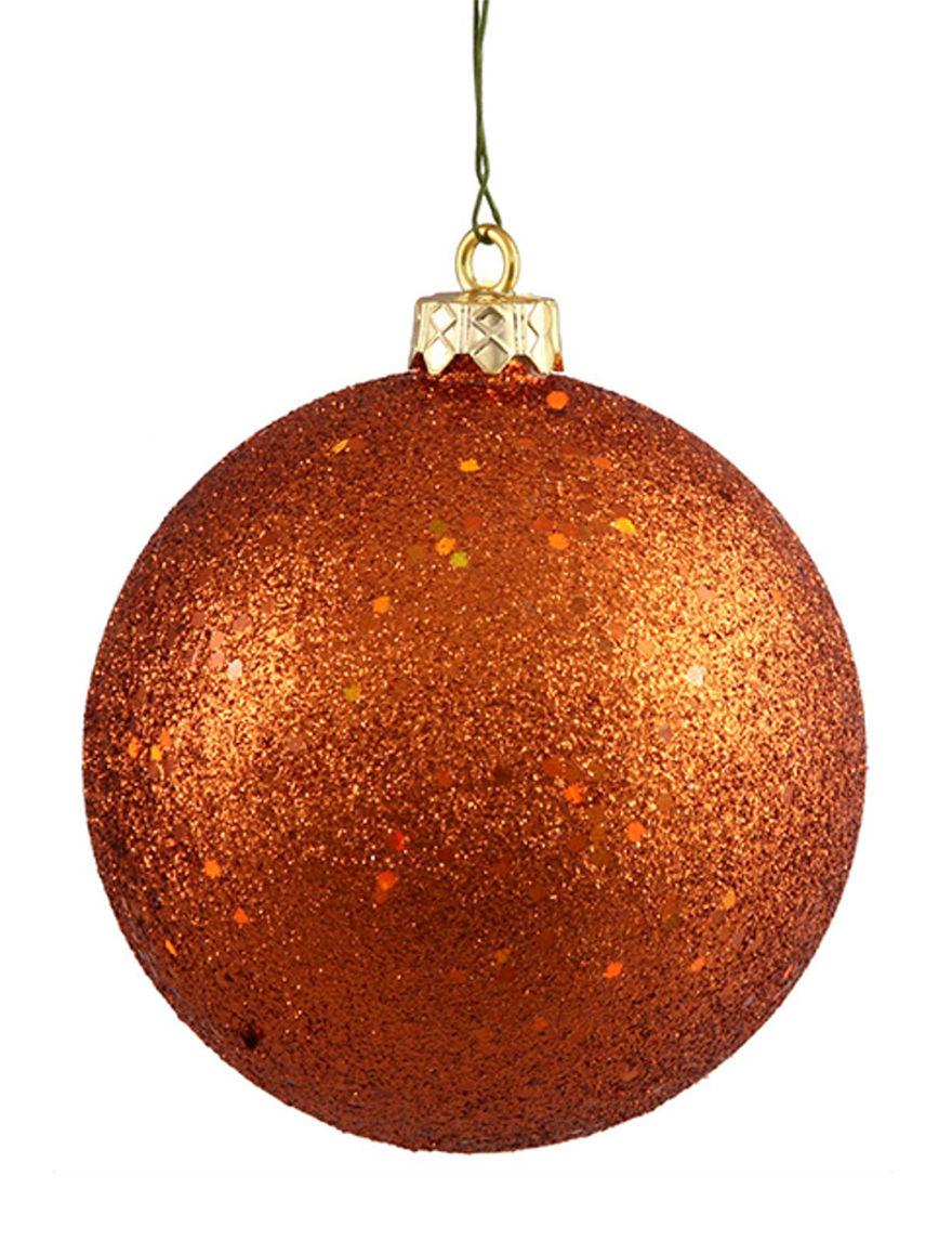Northlight Orange Ornaments Holiday Decor