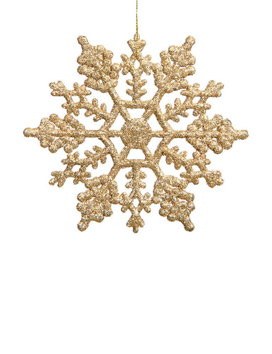 Northlight 24 Pk Glamour Glitter Snowflake Christmas