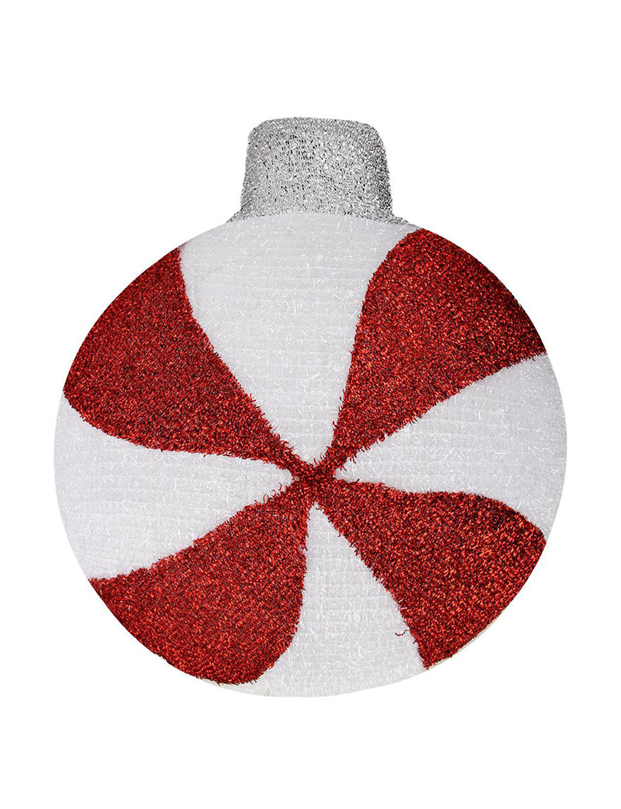 Northlight Red / White Ornaments Holiday Decor