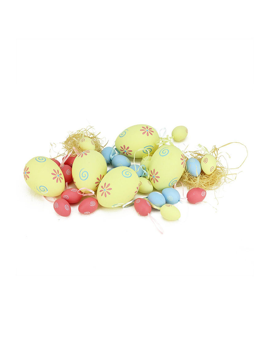Northlight Yellow/ Blue/ Pink Ornaments Holiday Decor