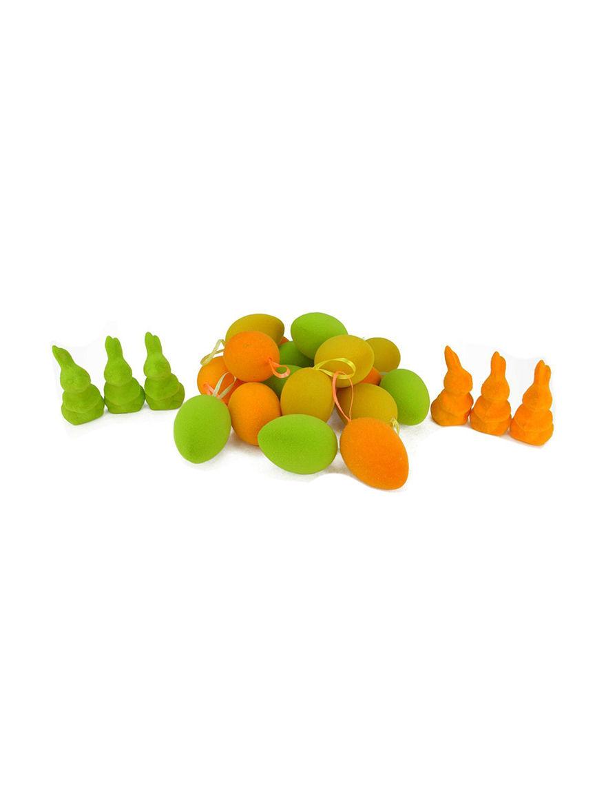 Northlight Orange / Green Ornaments Holiday Decor
