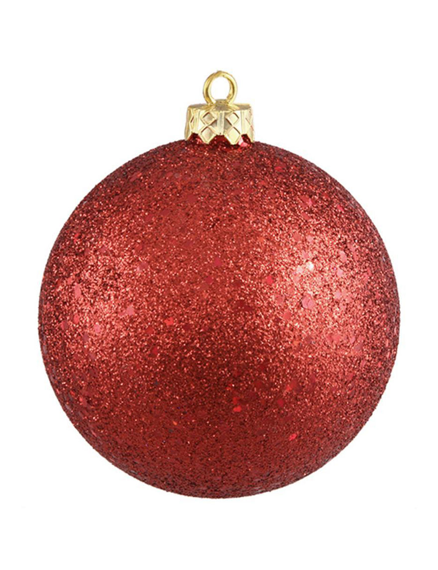 Northlight Red Ornaments Holiday Decor