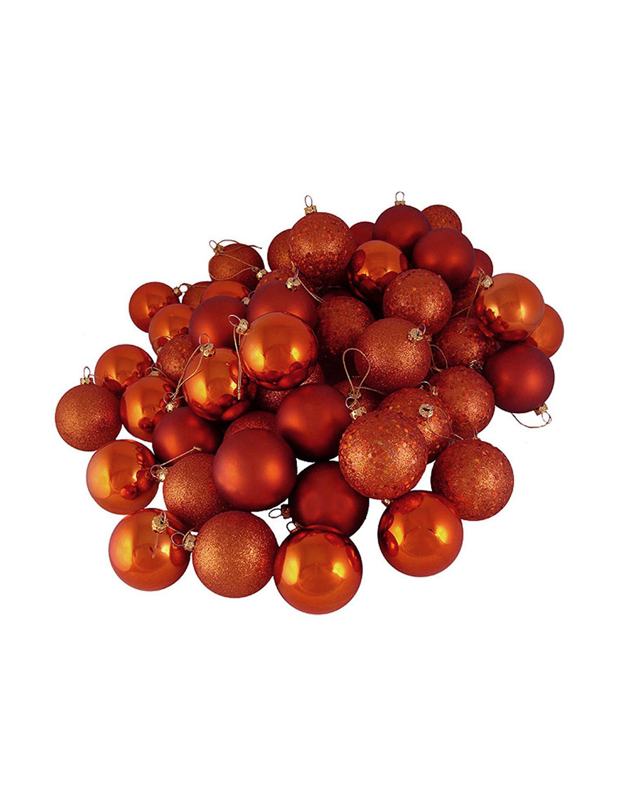 Northlight Orange Ornaments Holiday Decor