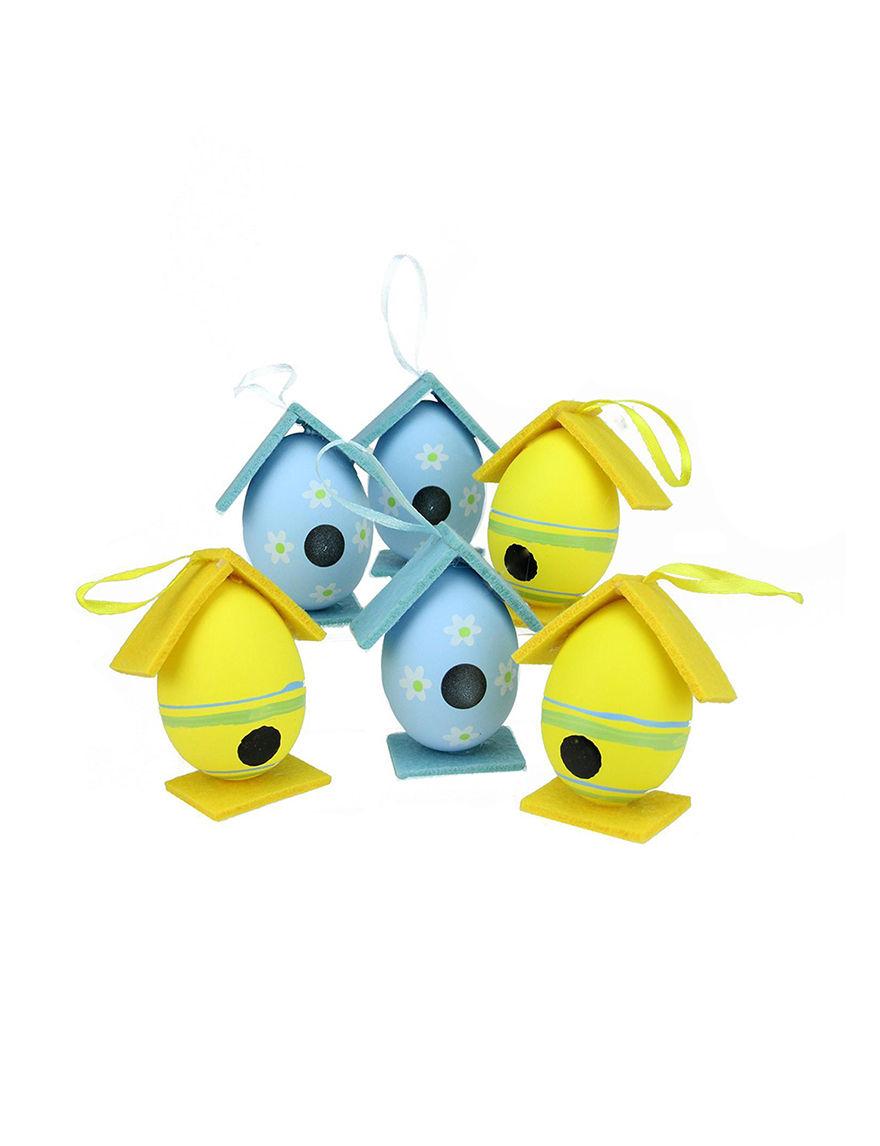 Northlight Yellow / Blue Ornaments Holiday Decor