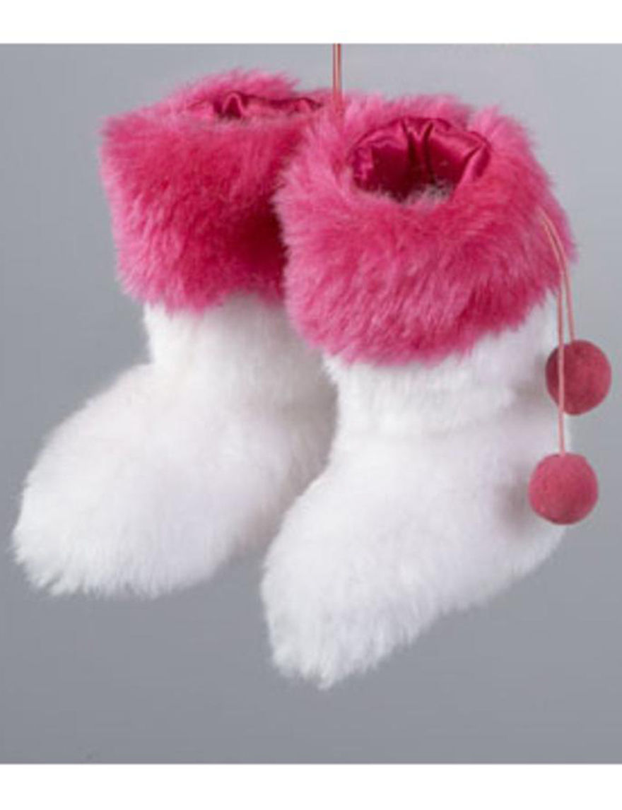 Lynn Roberts White / Pink Ornaments Holiday Decor
