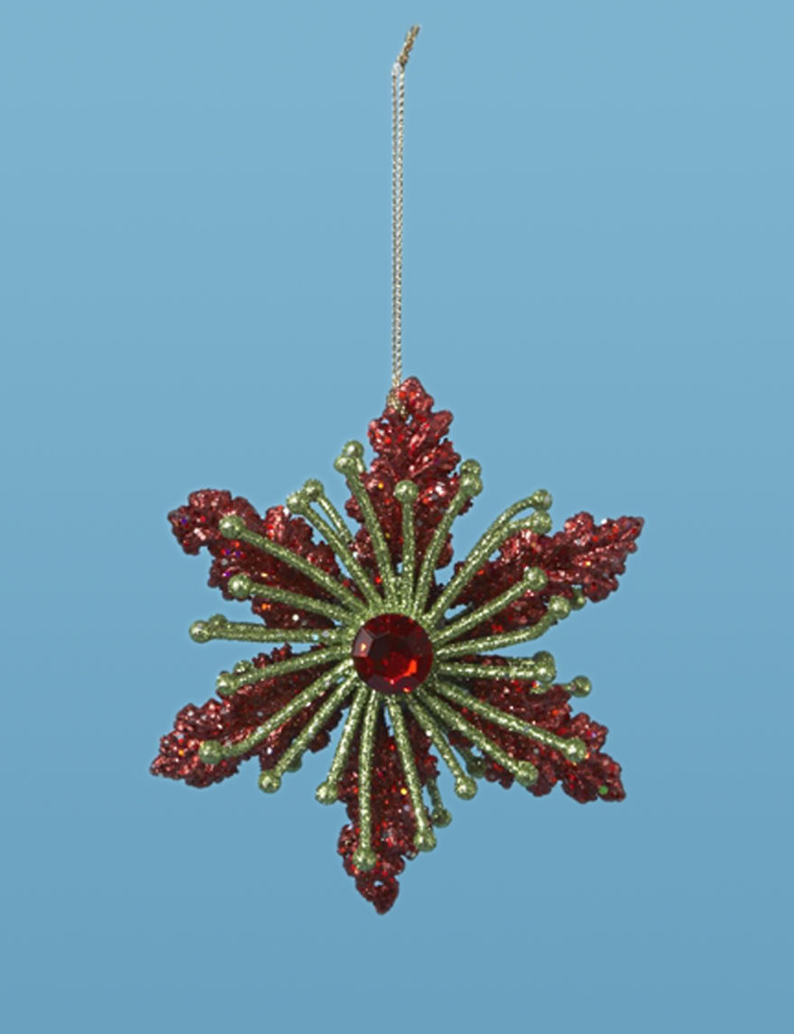 Lynn Roberts Red / Gold Ornaments Holiday Decor