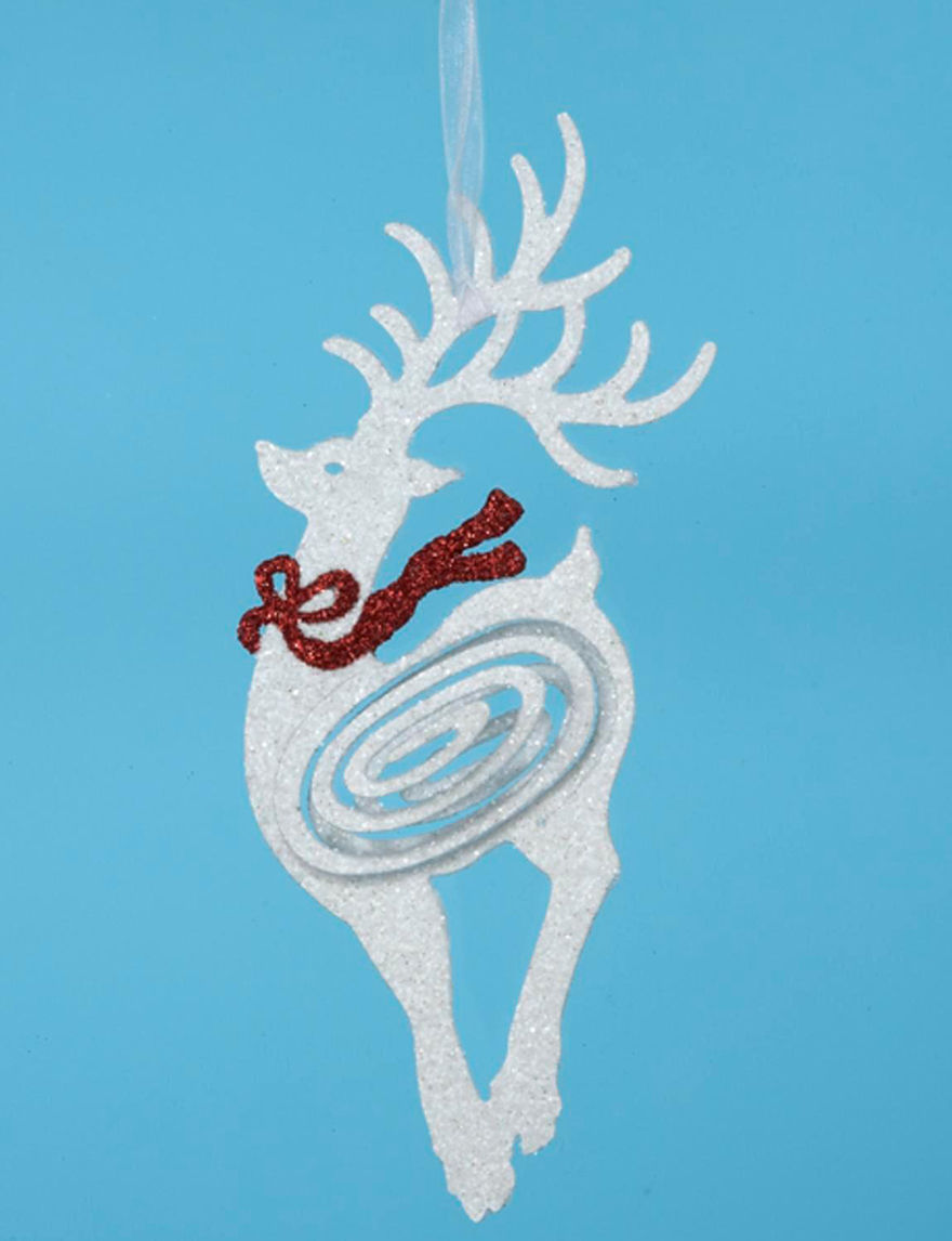Lynn Roberts White Ornaments Holiday Decor
