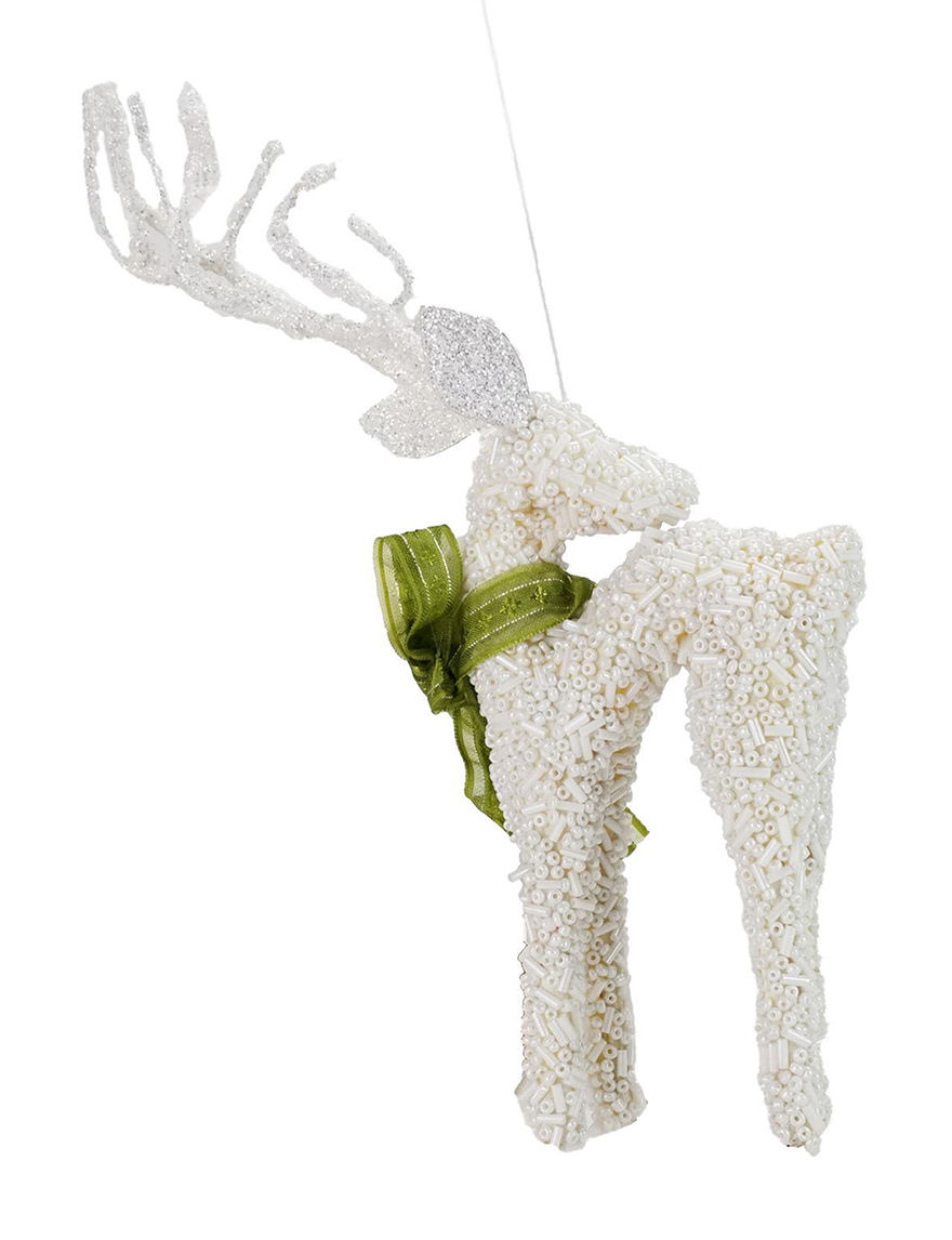 Melrose White Ornaments Holiday Decor