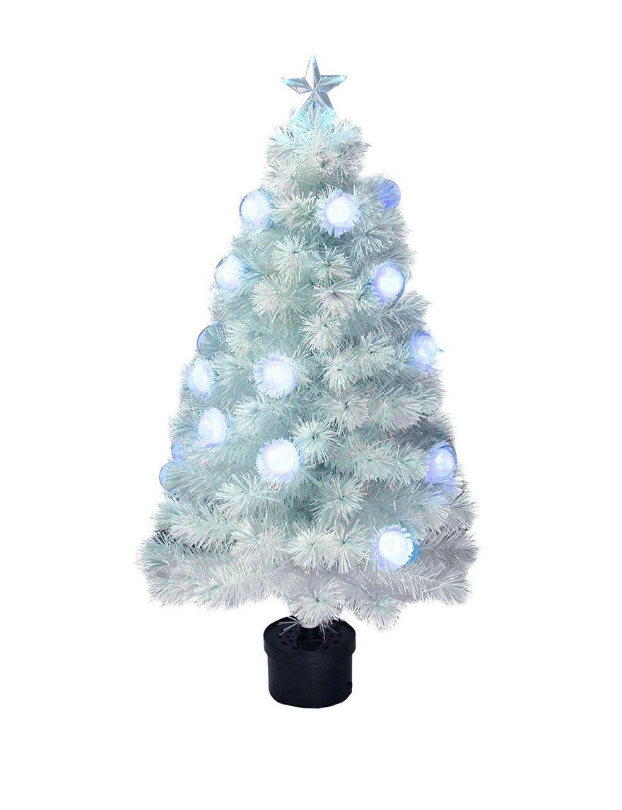 Northlight White / Blue Christmas Trees Holiday Decor