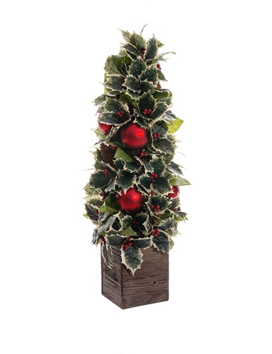 Allstate Green / Red Decorative Objects Holiday Decor Home Accents