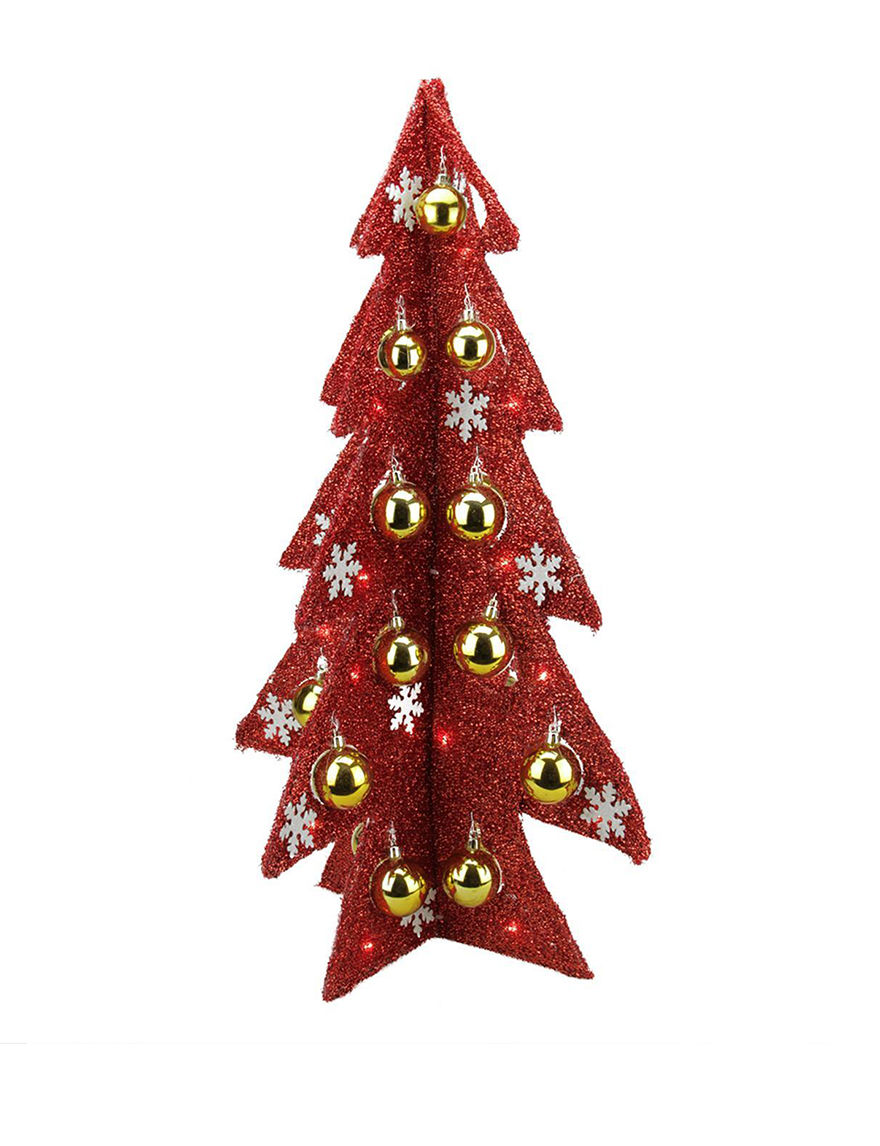 Northlight Red Christmas Trees Decorative Objects Holiday Decor