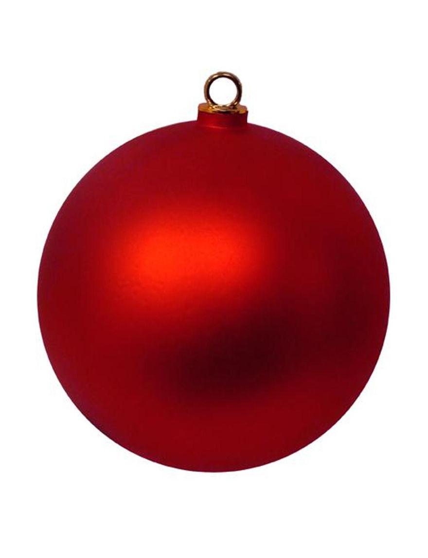 Vickerman Red Ornaments Holiday Decor