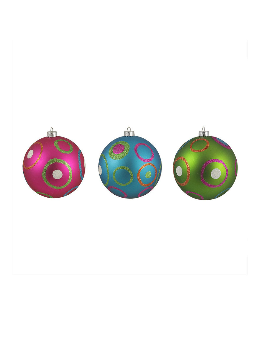Sterling Pink Multi Ornaments Holiday Decor