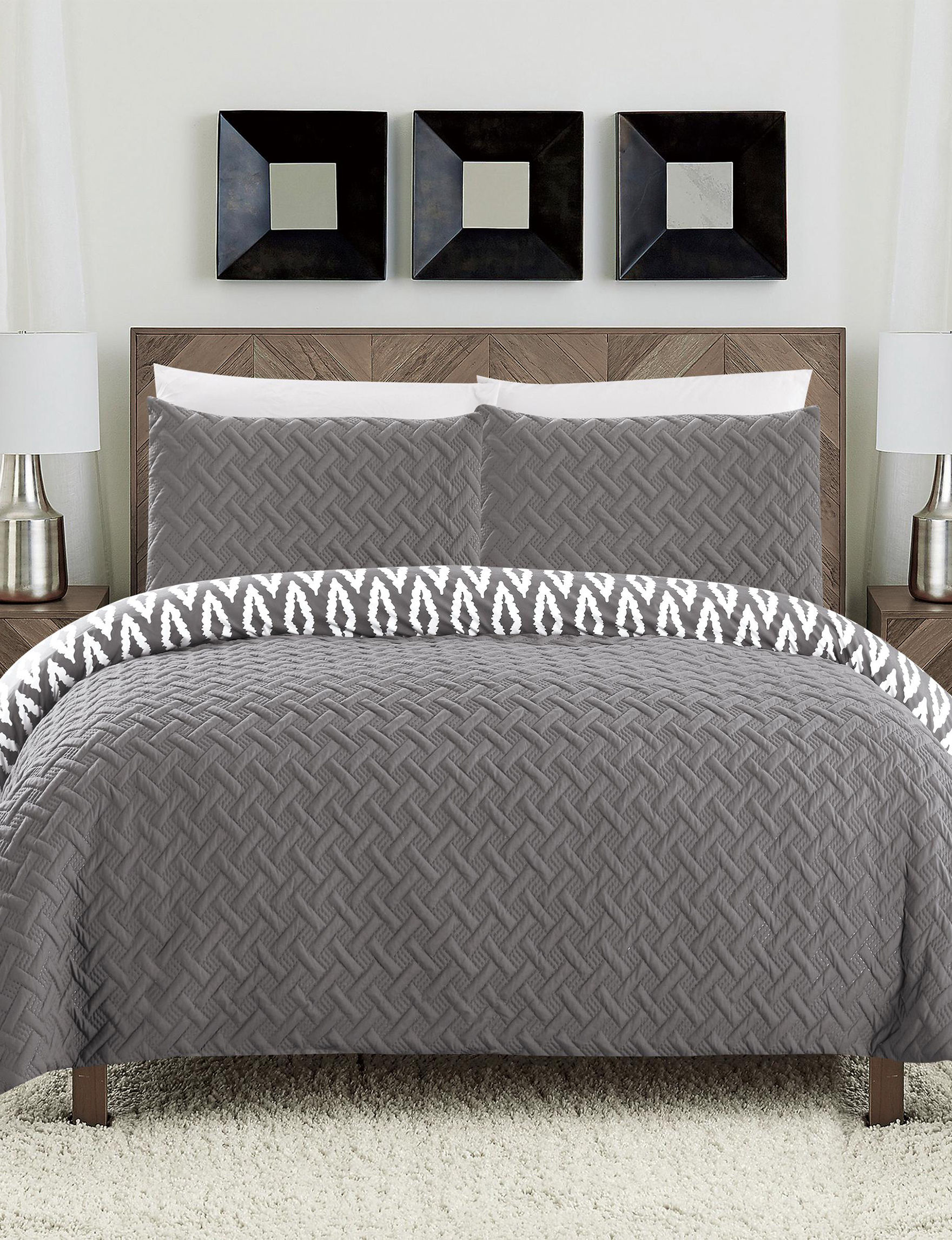 Chic Home Design Grey Comforters U0026 Comforter Sets