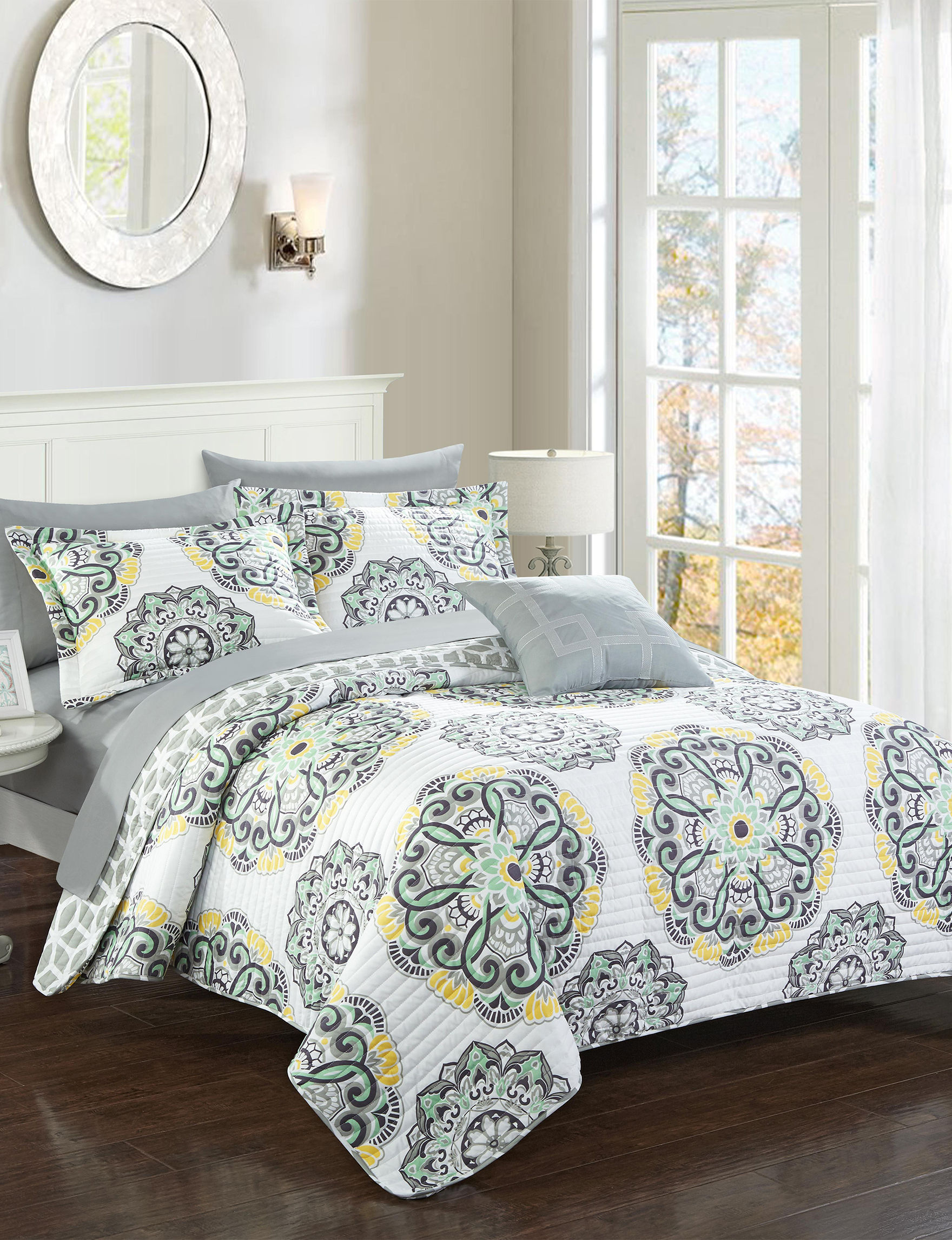 Chic Home Design Grey Quilts & Quilt Sets