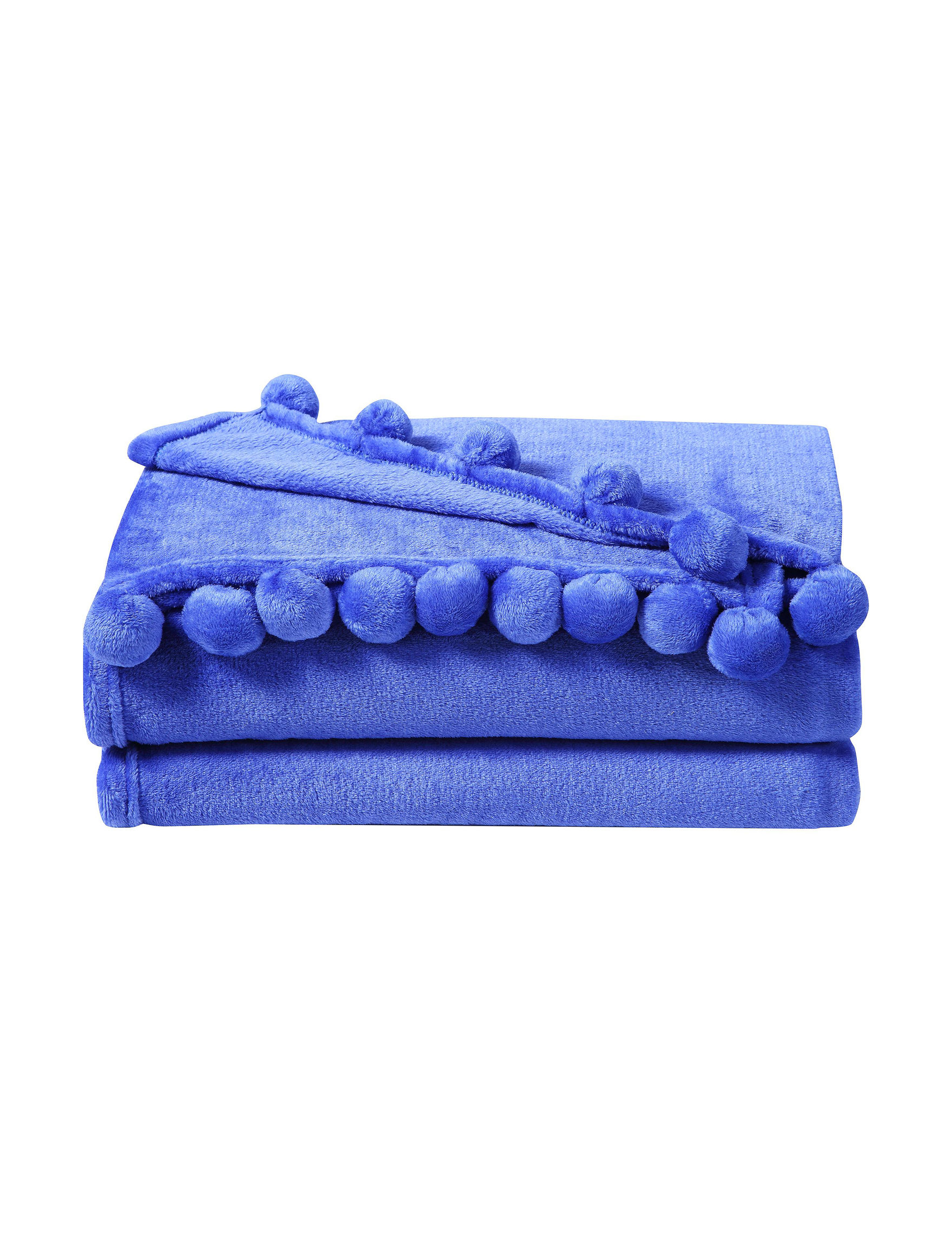 VCNY Home Blue Blankets & Throws