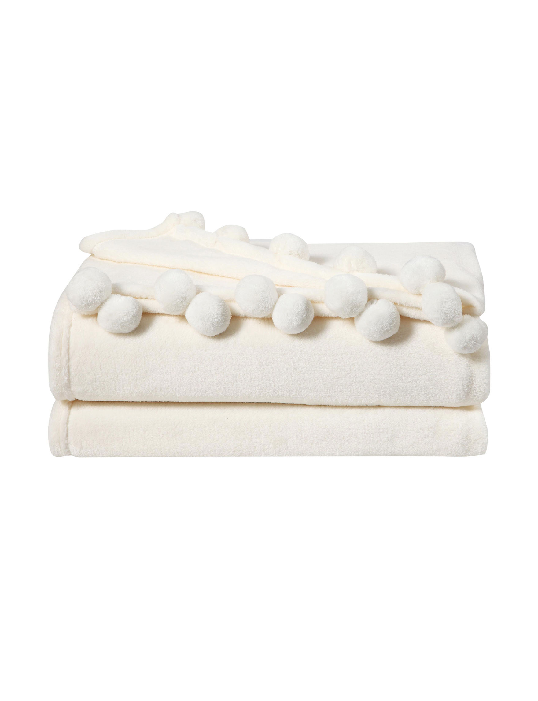 VCNY Home Ivory Blankets & Throws