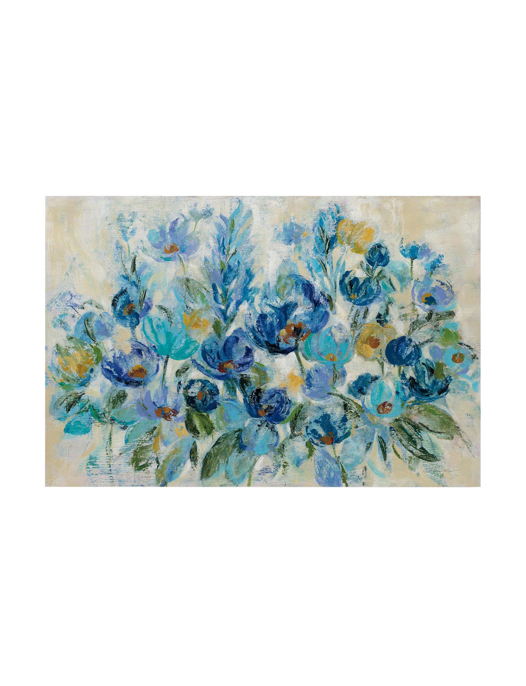 Trademark Fine Art Blue / Ivory Wall Art Wall Decor