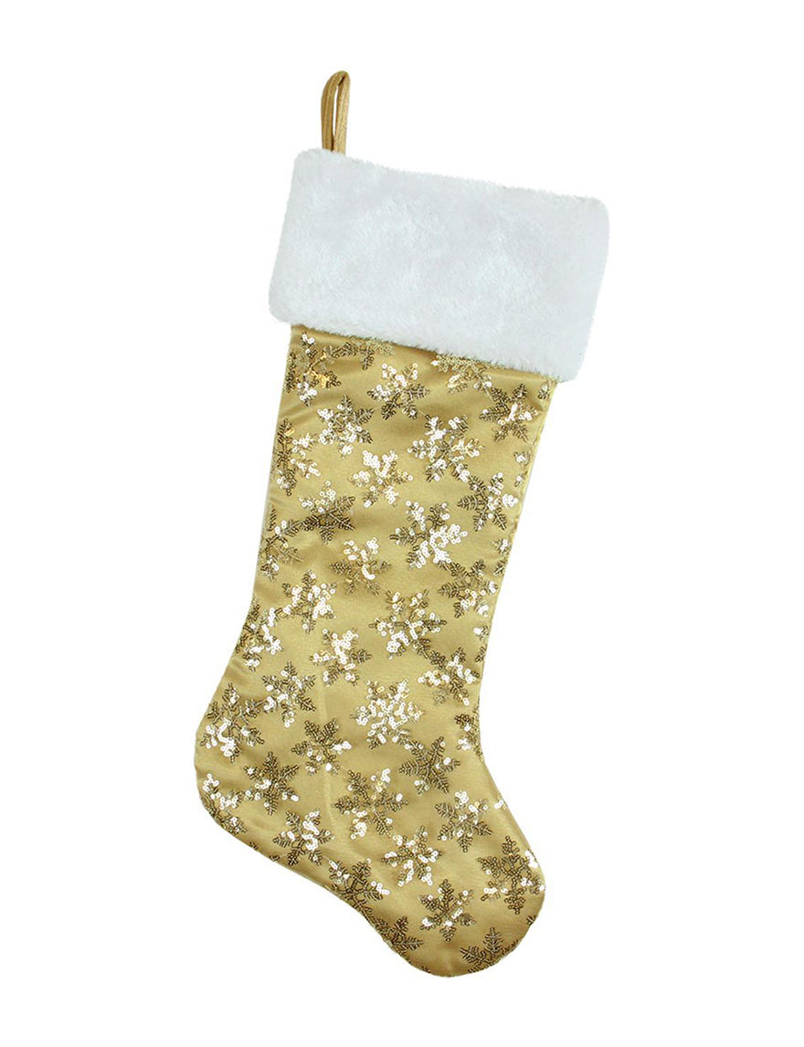 Northlight Gold Stockings & Tree Skirts Holiday Decor