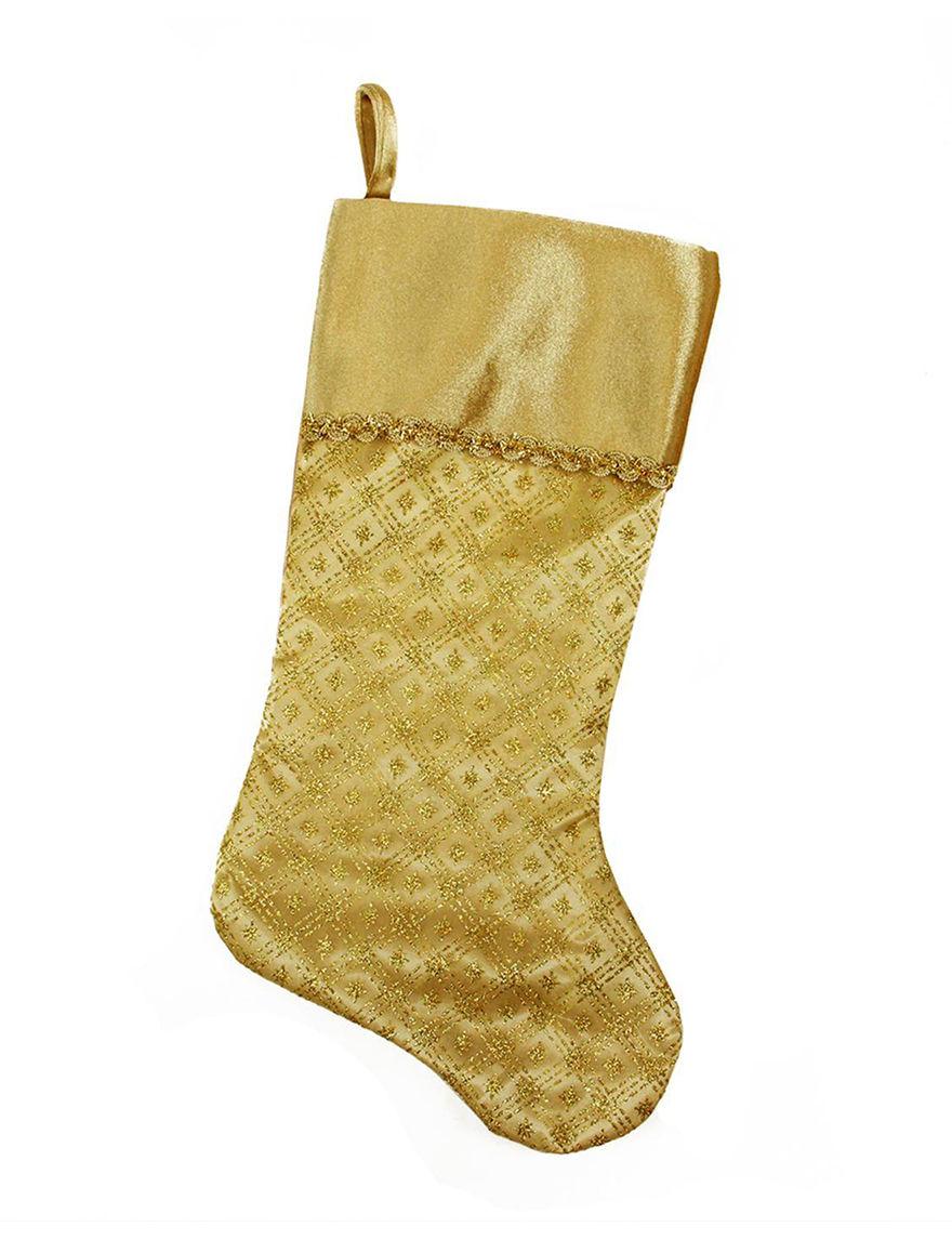 Northlight Gold Stockings & Tree Skirts Holiday Decor