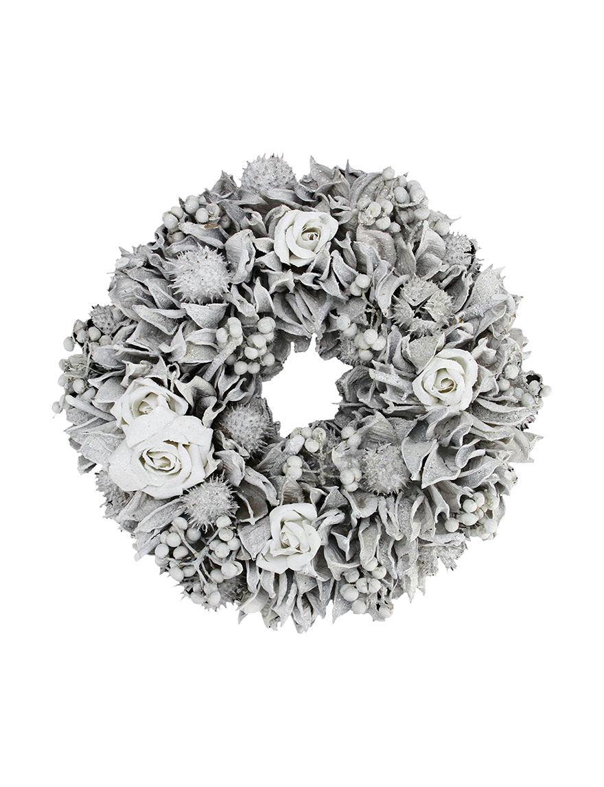Northlight White Wreaths & Garland Holiday Decor