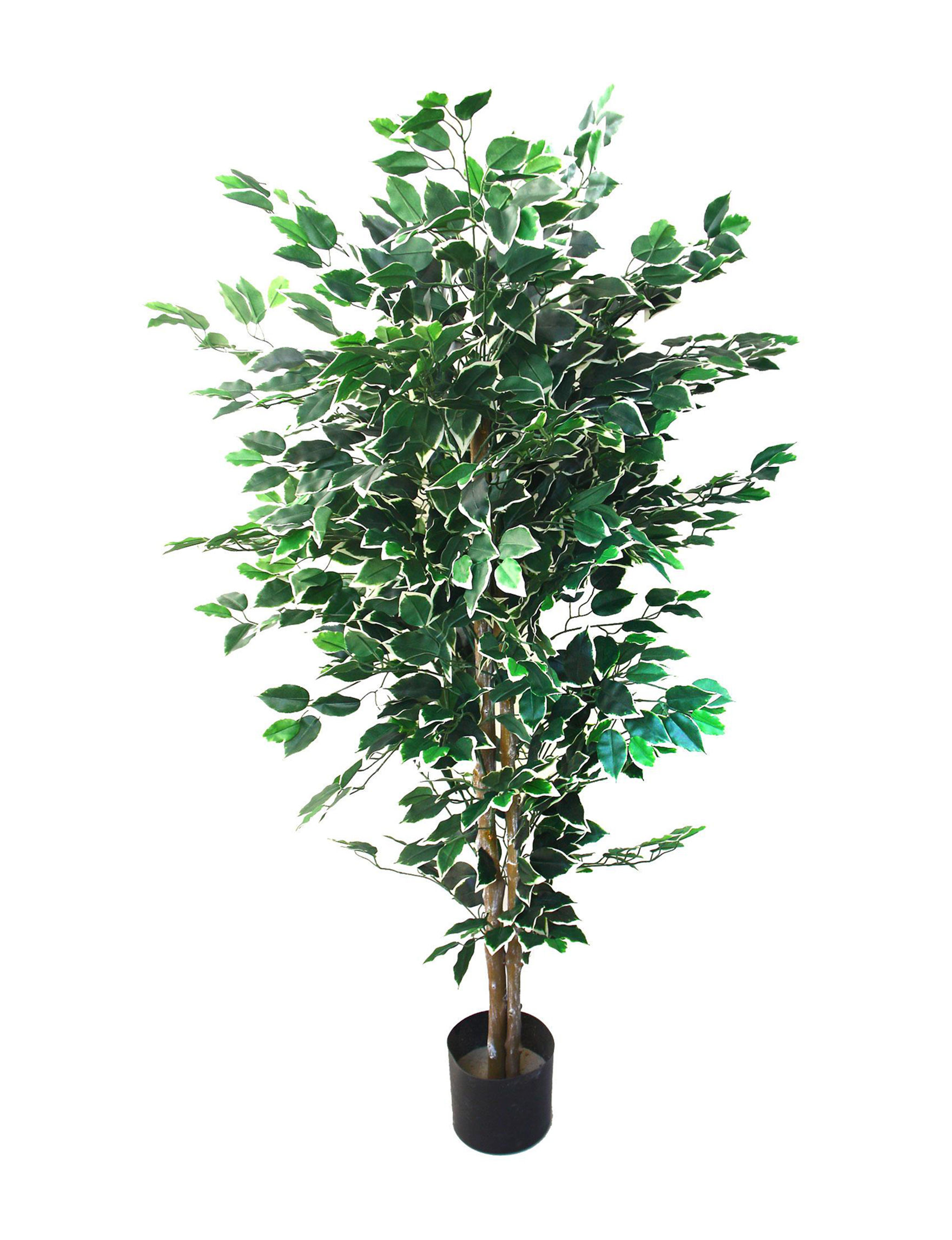 Pure Garden Green Faux Plants Outdoor Decor