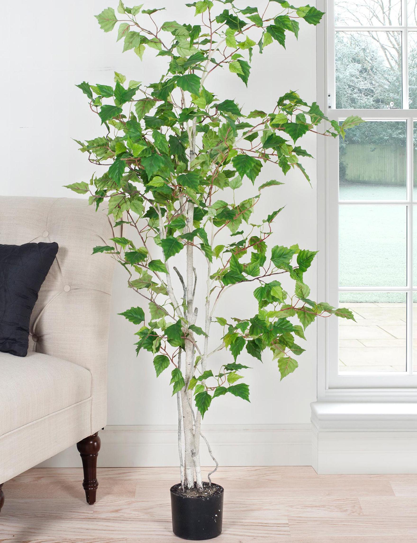 Pure Garden Green Faux Plants Outdoor Decor