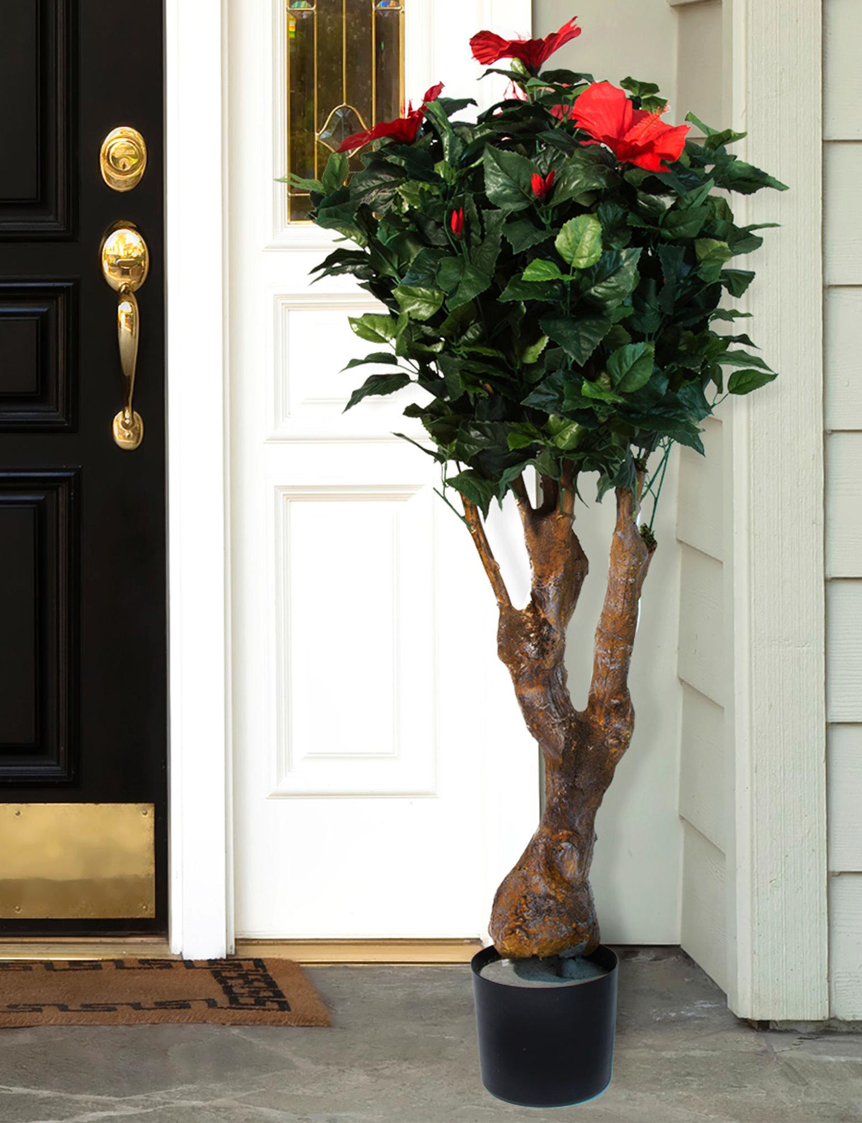 Pure Garden Artificial Hibiscus Tree With Flowers Stage Stores
