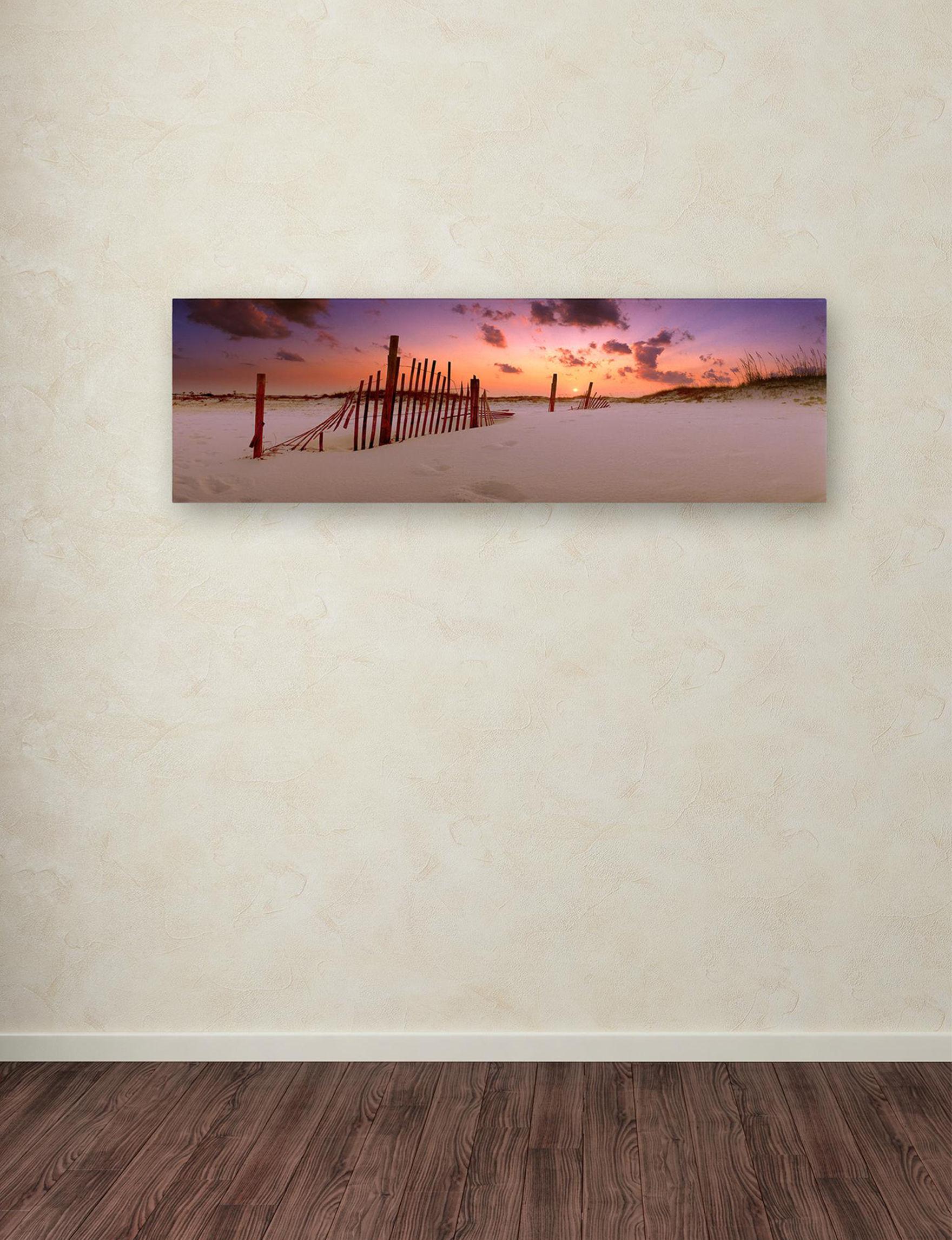 Trademark Fine Art Orange Multi Wall Art Home Accents Wall Decor