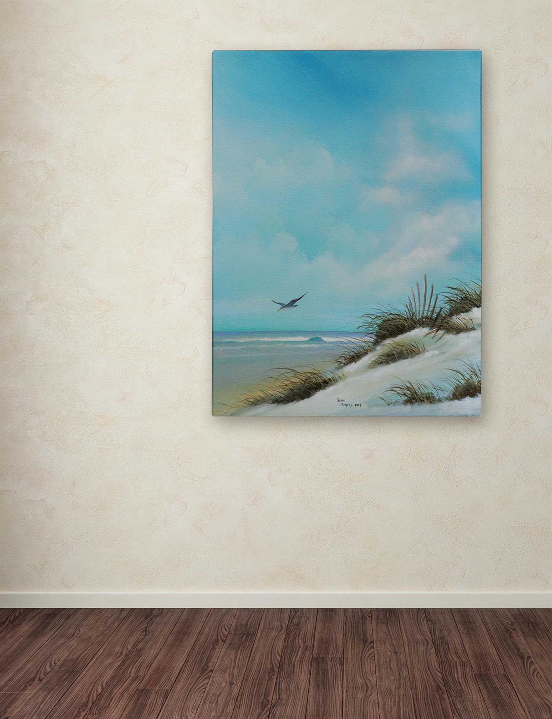 Trademark Fine Art Blue Multi Wall Art Home Accents Wall Decor