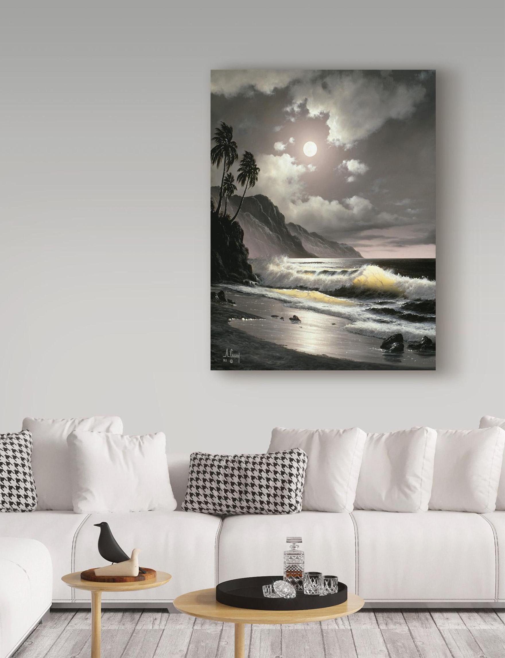 Trademark Fine Art Dark Grey Wall Art Home Accents Wall Decor