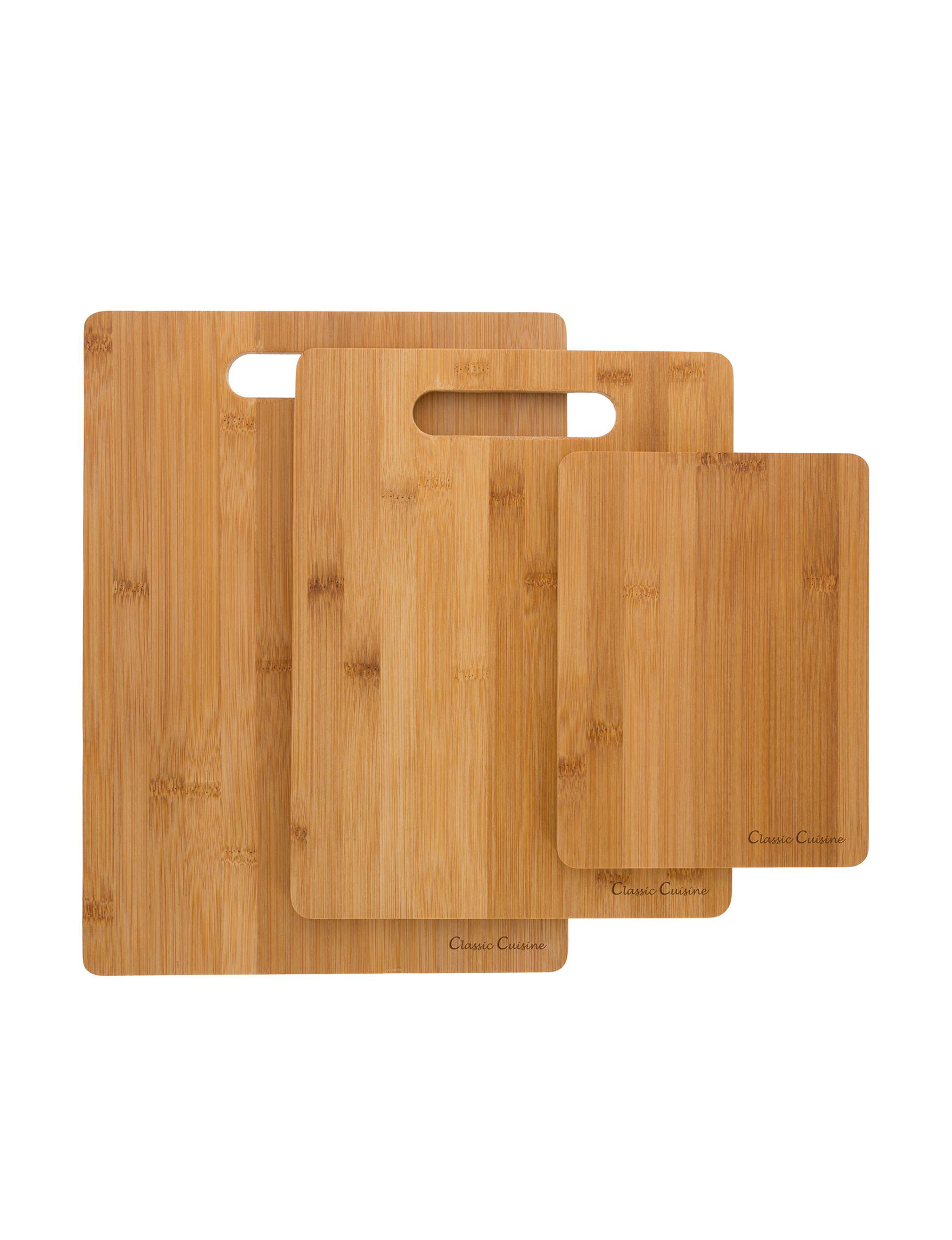 Classic Cuisine Bamboo Cutting Boards Prep & Tools