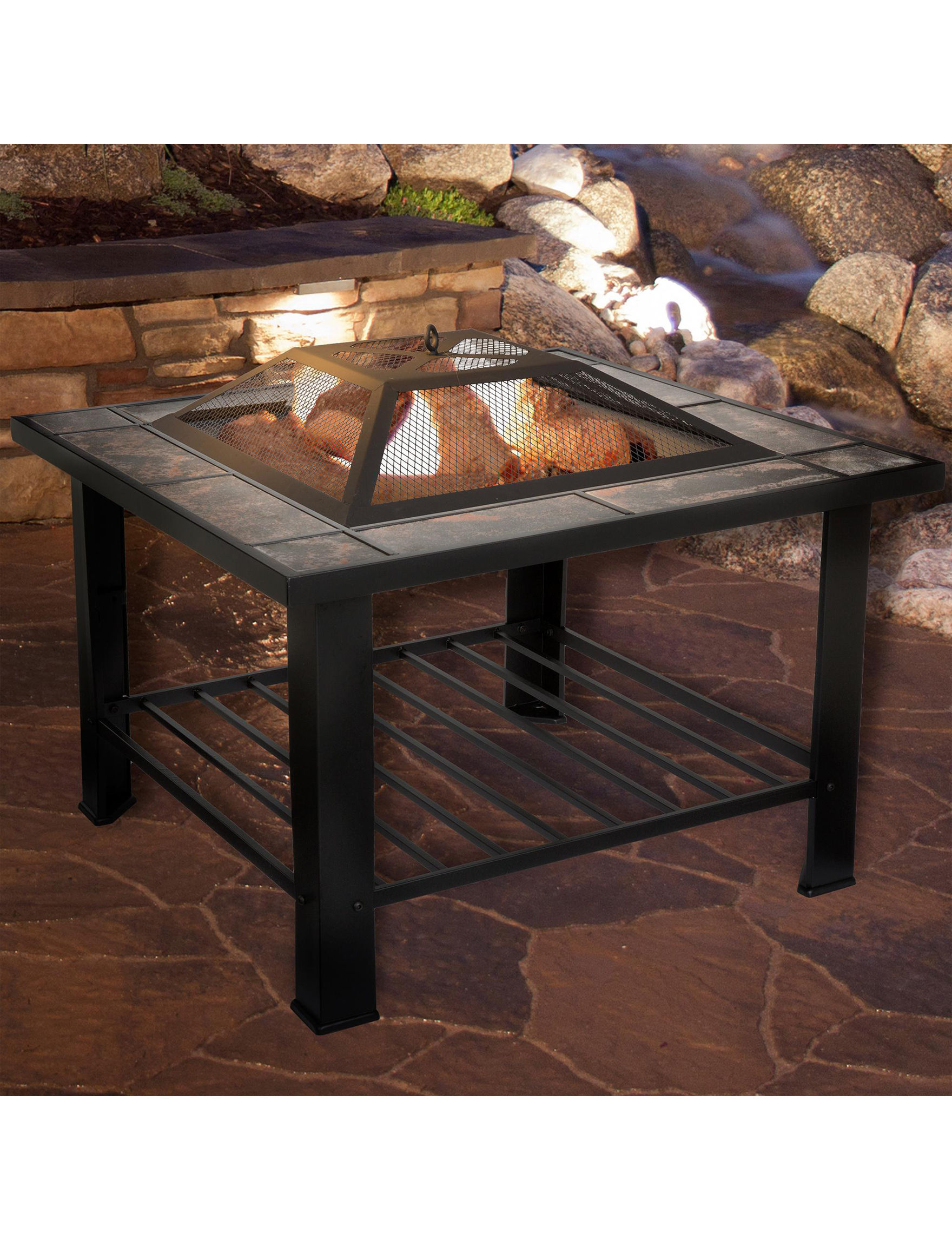 Trademark Global Black Decorative Objects Outdoor Entertaining Patio & Outdoor Furniture