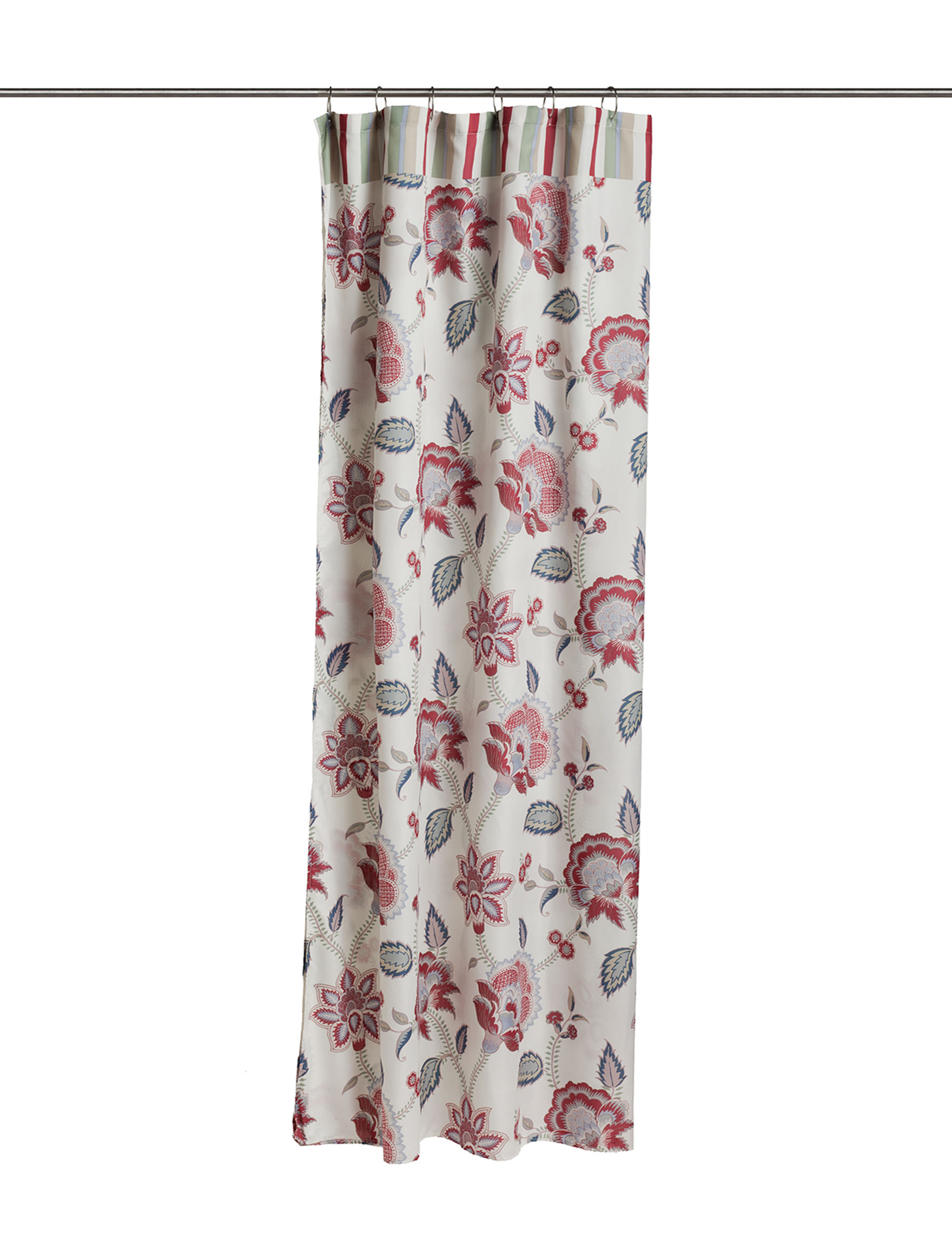 Avanti White Multi Shower Curtains & Hooks