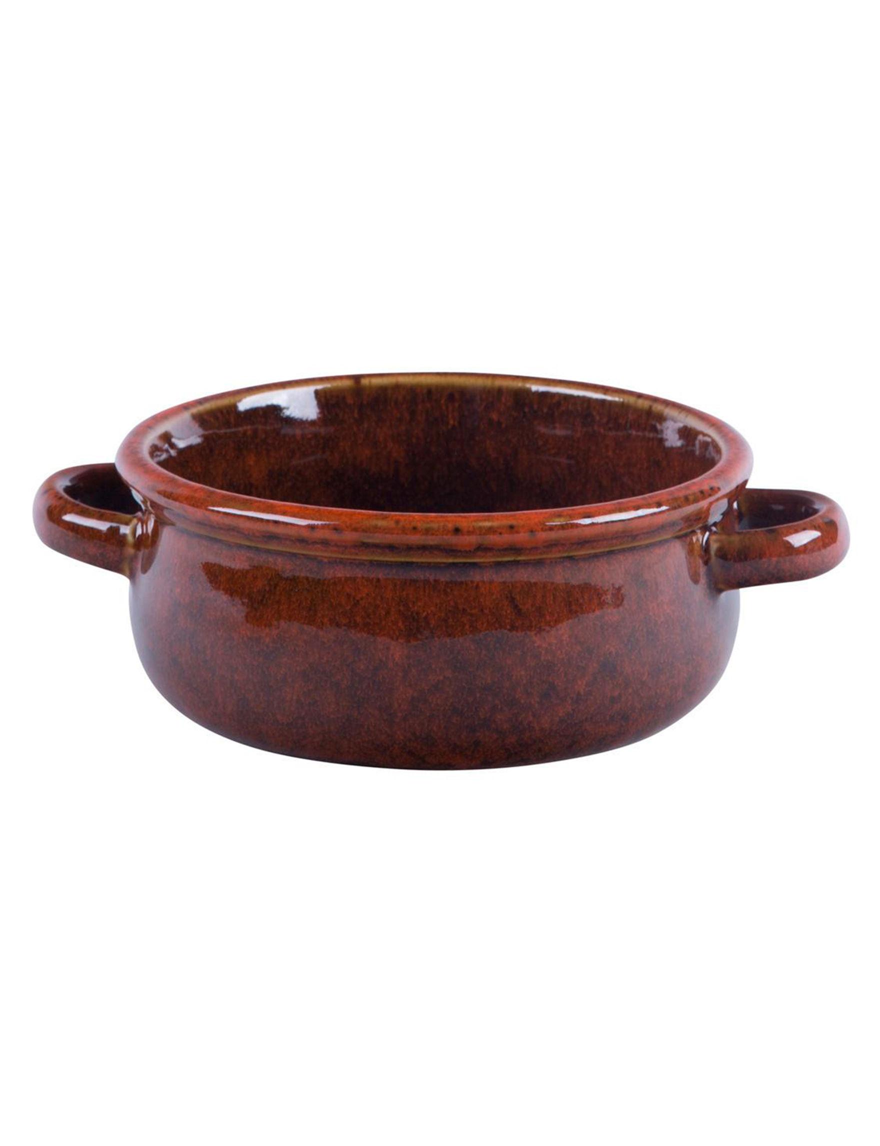 Home Essentials Red Serving Bowls Serveware