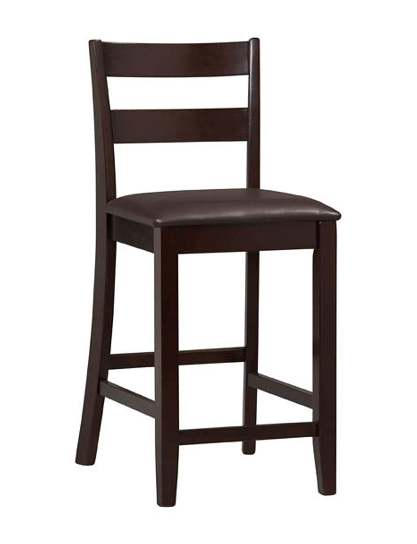 Linon Dark Brown Bar & Kitchen Stools Kitchen & Dining Furniture