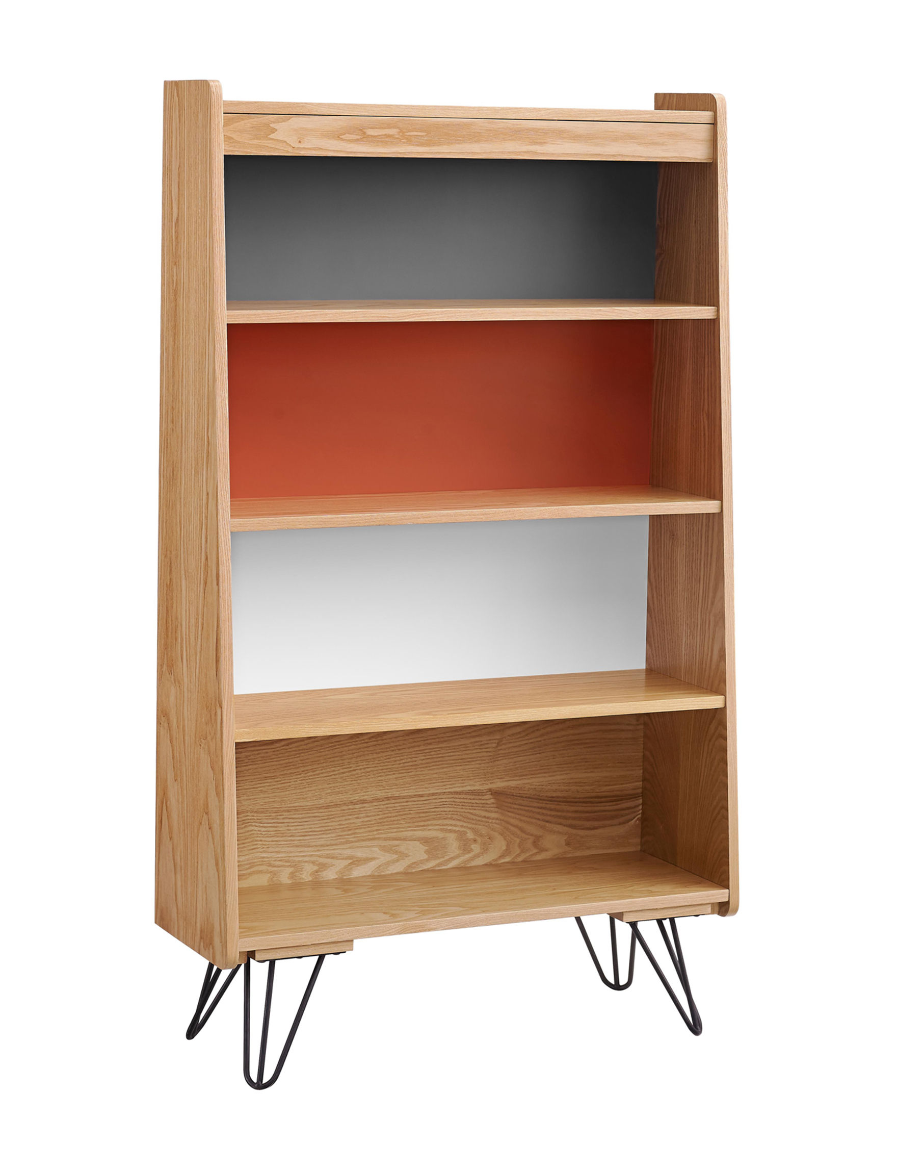 Linon Brown Bookcases & Shelves Home Office Furniture