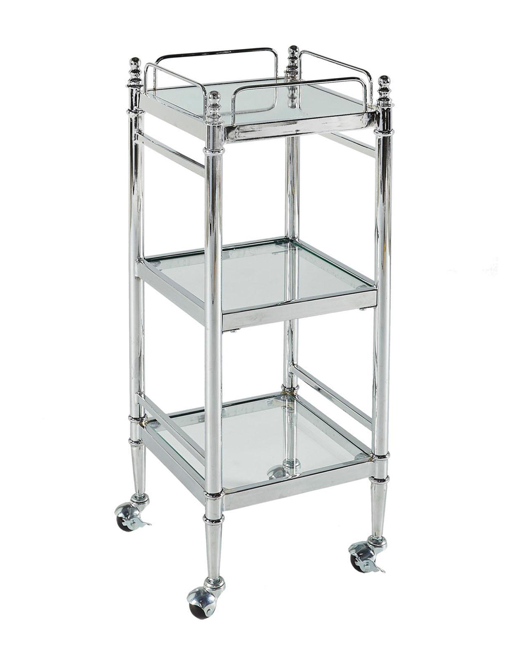Linon Chrome Kitchen Islands & Carts Kitchen & Dining Furniture