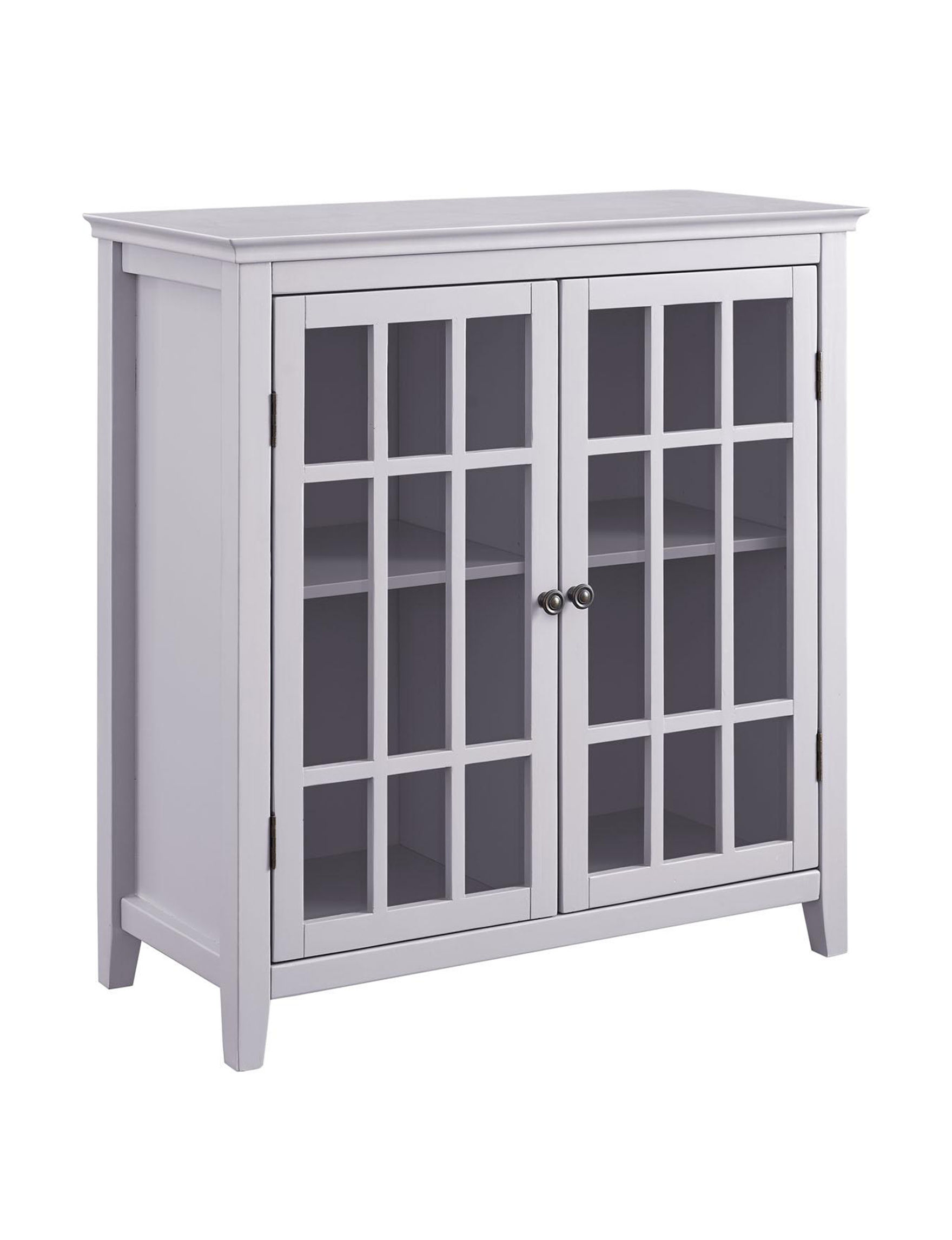 Linon Grey Cabinets & Cupboards Living Room Furniture