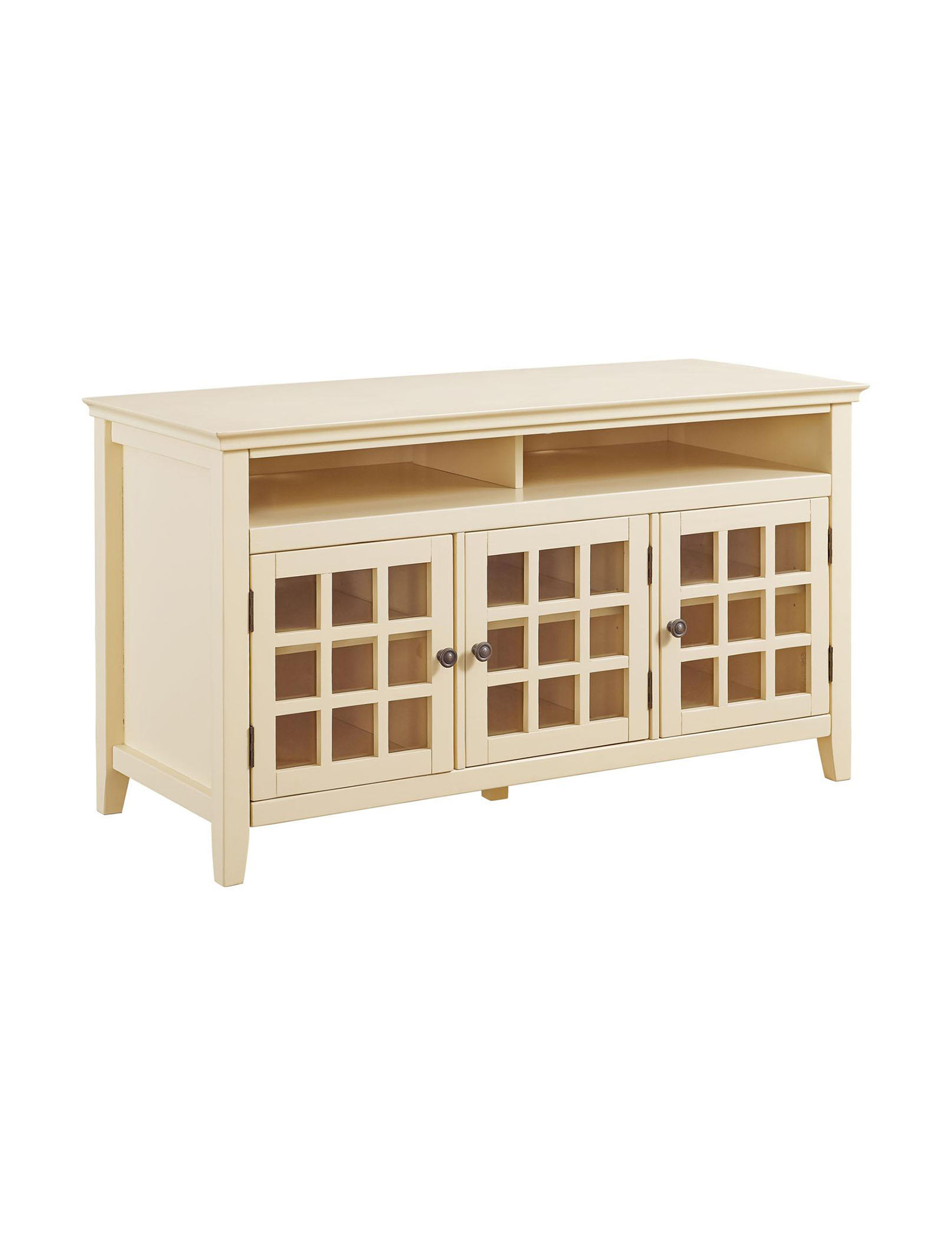 Linon Light Yellow TV Stands & Entertainment Centers Living Room Furniture