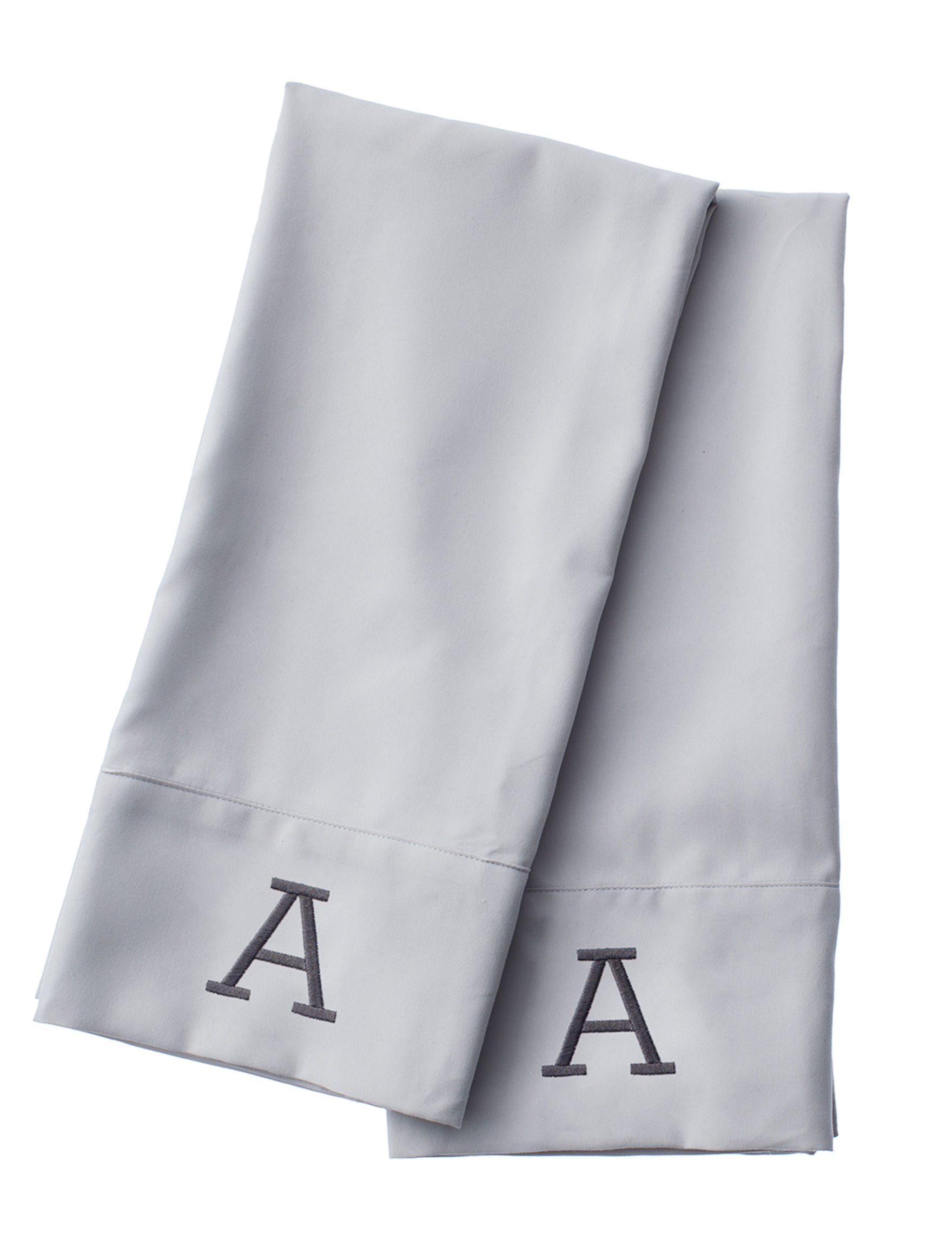 Great Hotels Collection White Monogram Sheets & Pillowcases