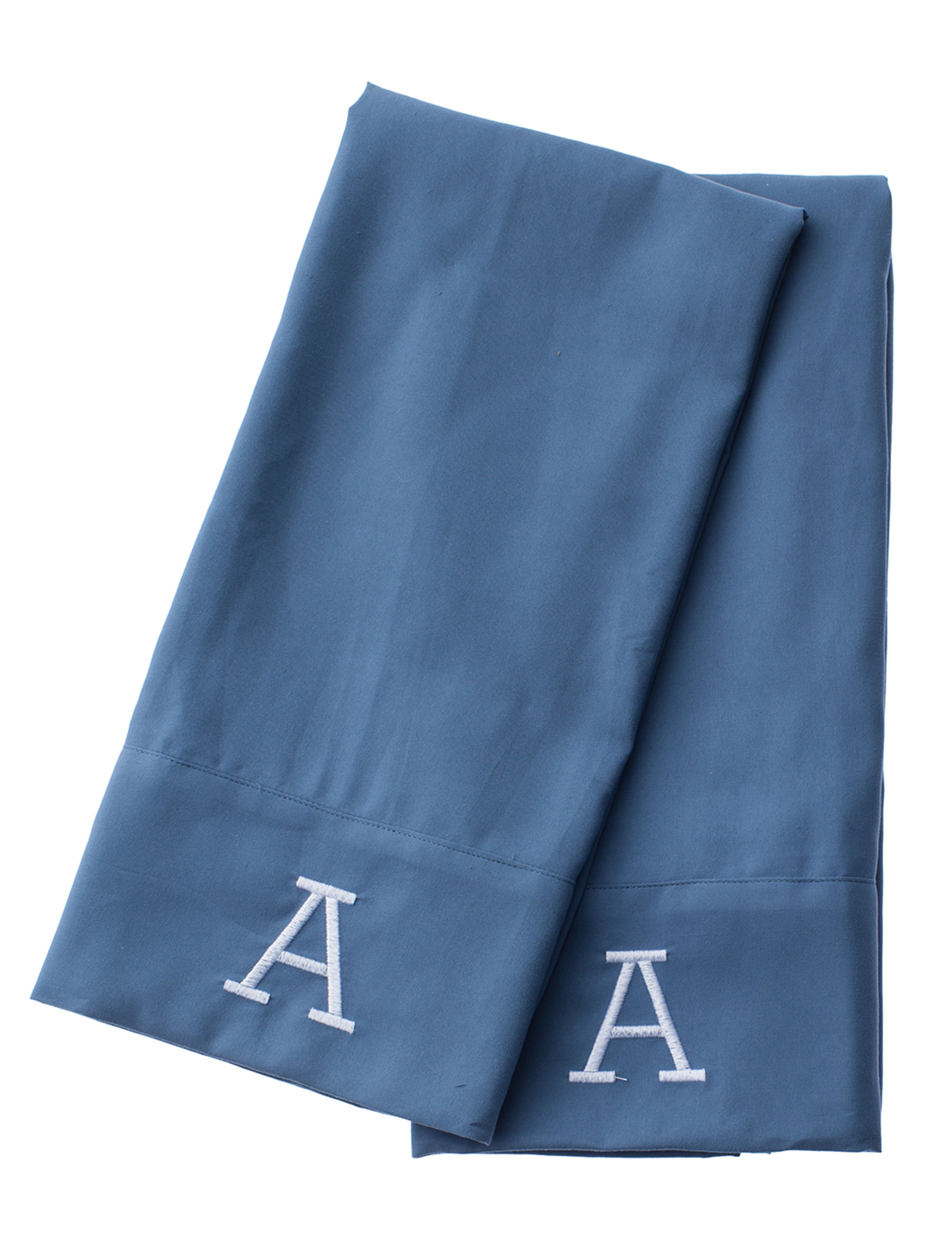 Great Hotels Collection Blue Monogram Sheets & Pillowcases