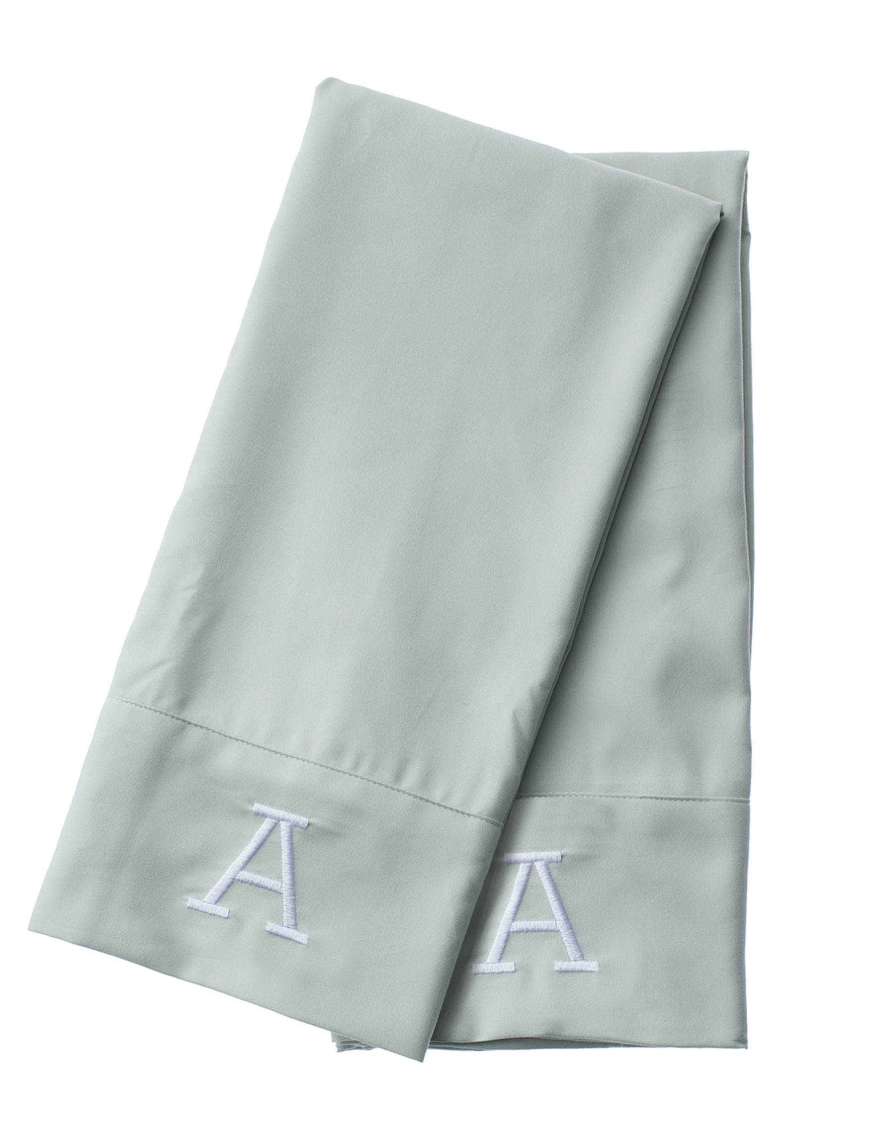 Great Hotels Collection Green Monogram Sheets & Pillowcases