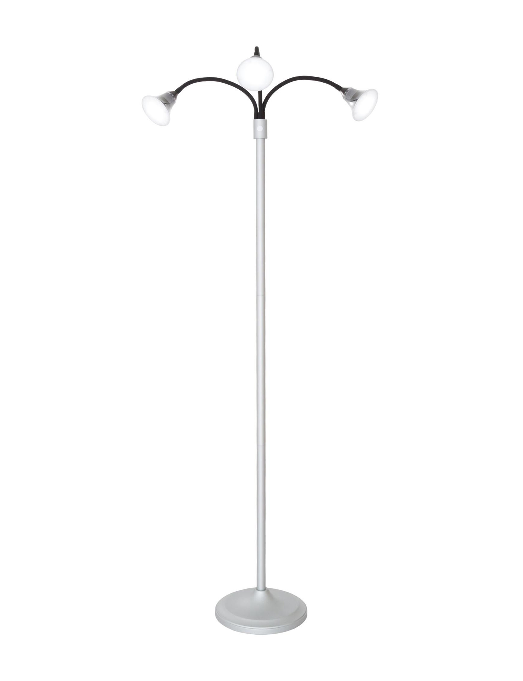 Lavish Home Silver Floor Lamps Lighting & Lamps