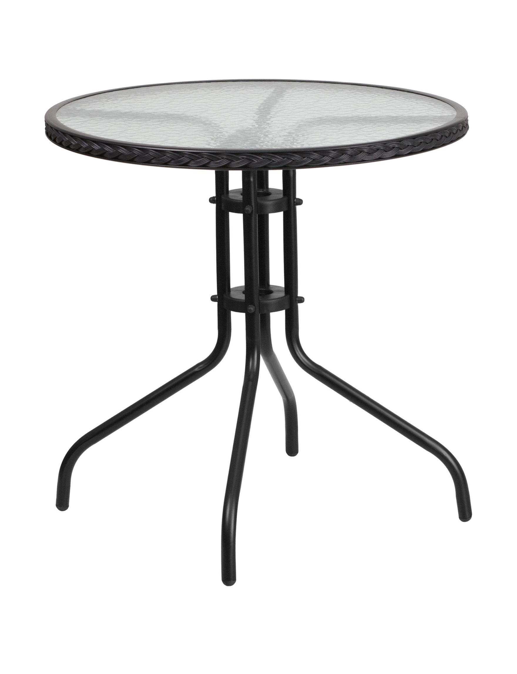 Flash Furniture Black Dining Tables Kitchen & Dining Furniture Patio & Outdoor Furniture