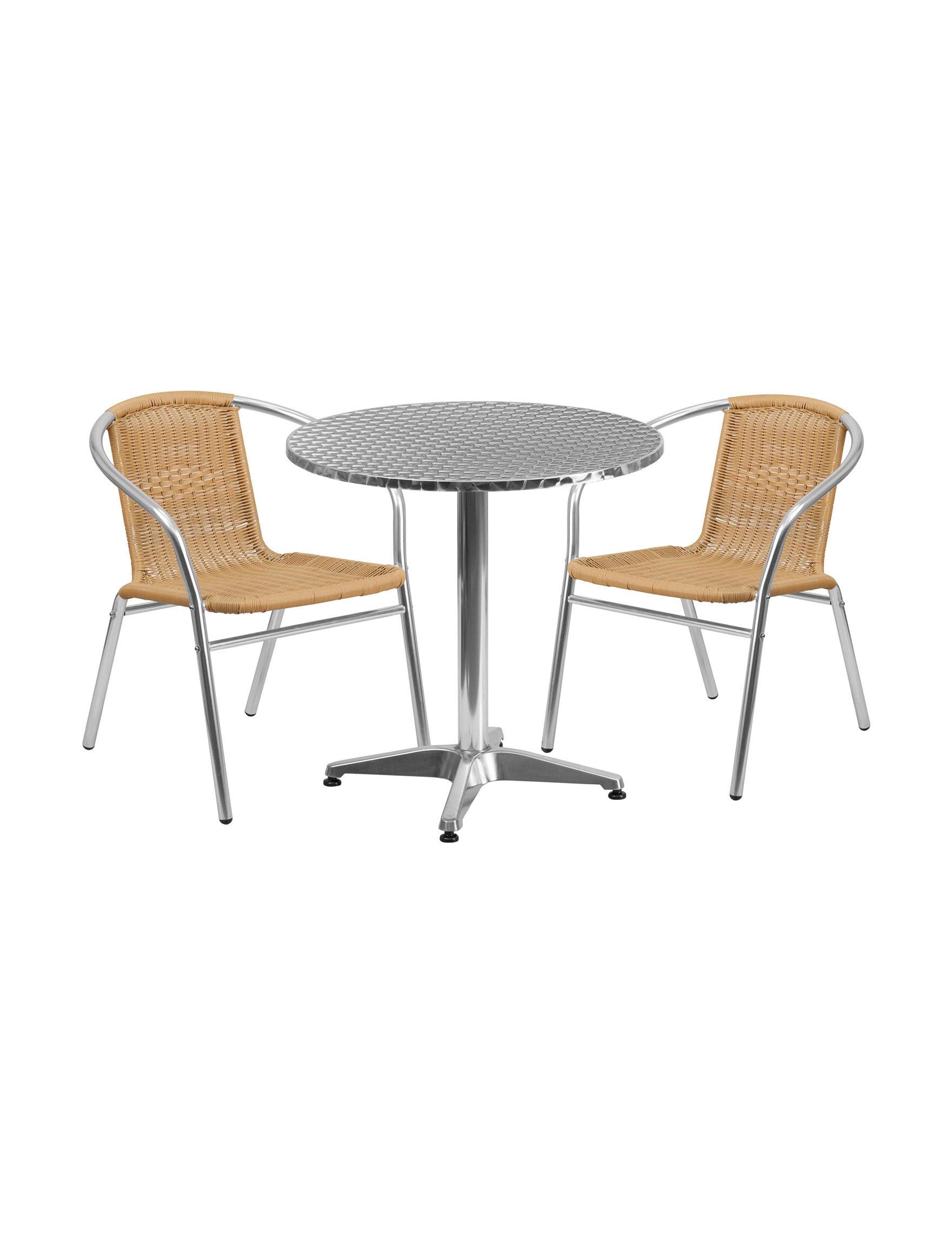 Flash Furniture Beige Kitchen & Dining Furniture Patio & Outdoor Furniture