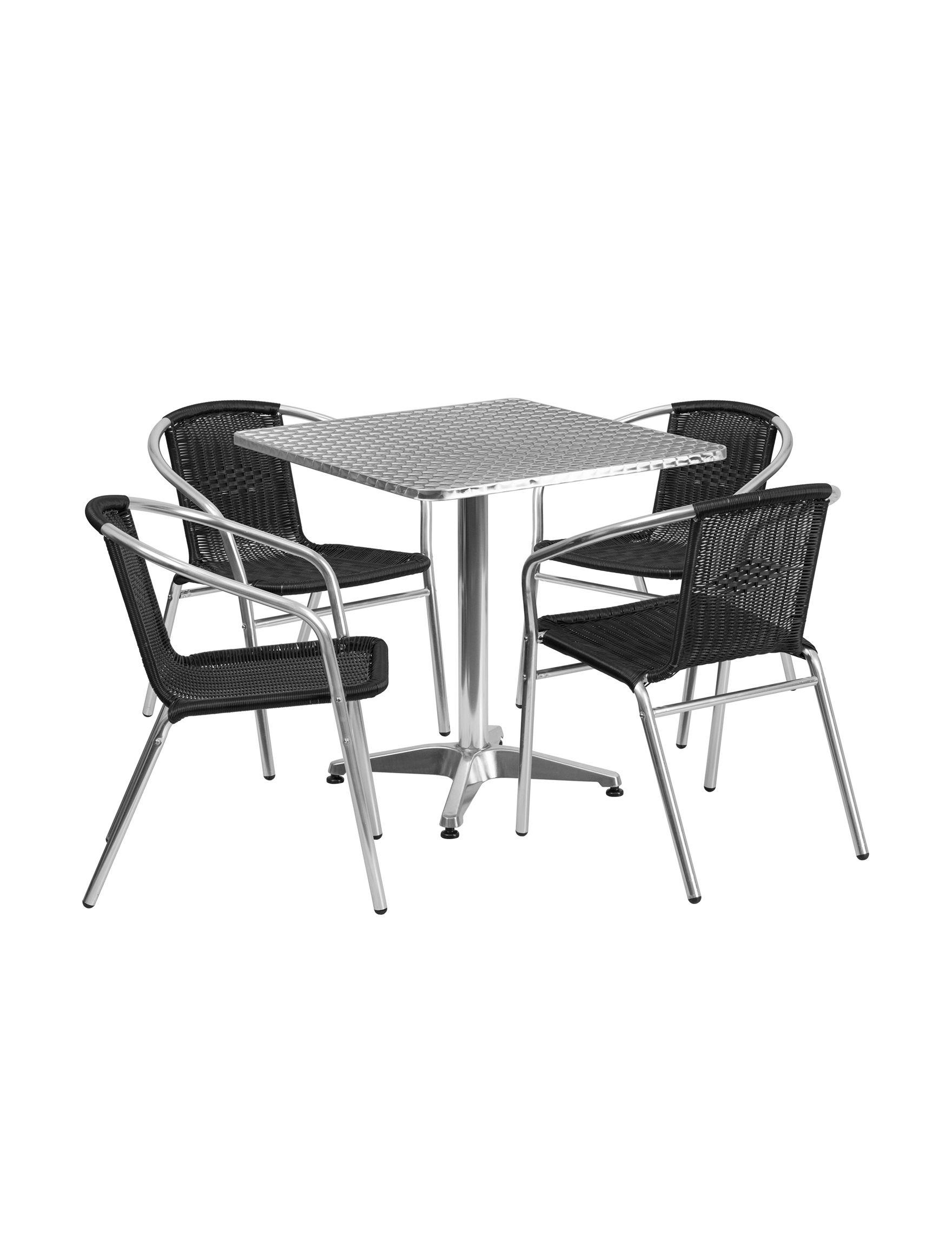 Flash Furniture Black Kitchen & Dining Furniture Patio & Outdoor Furniture