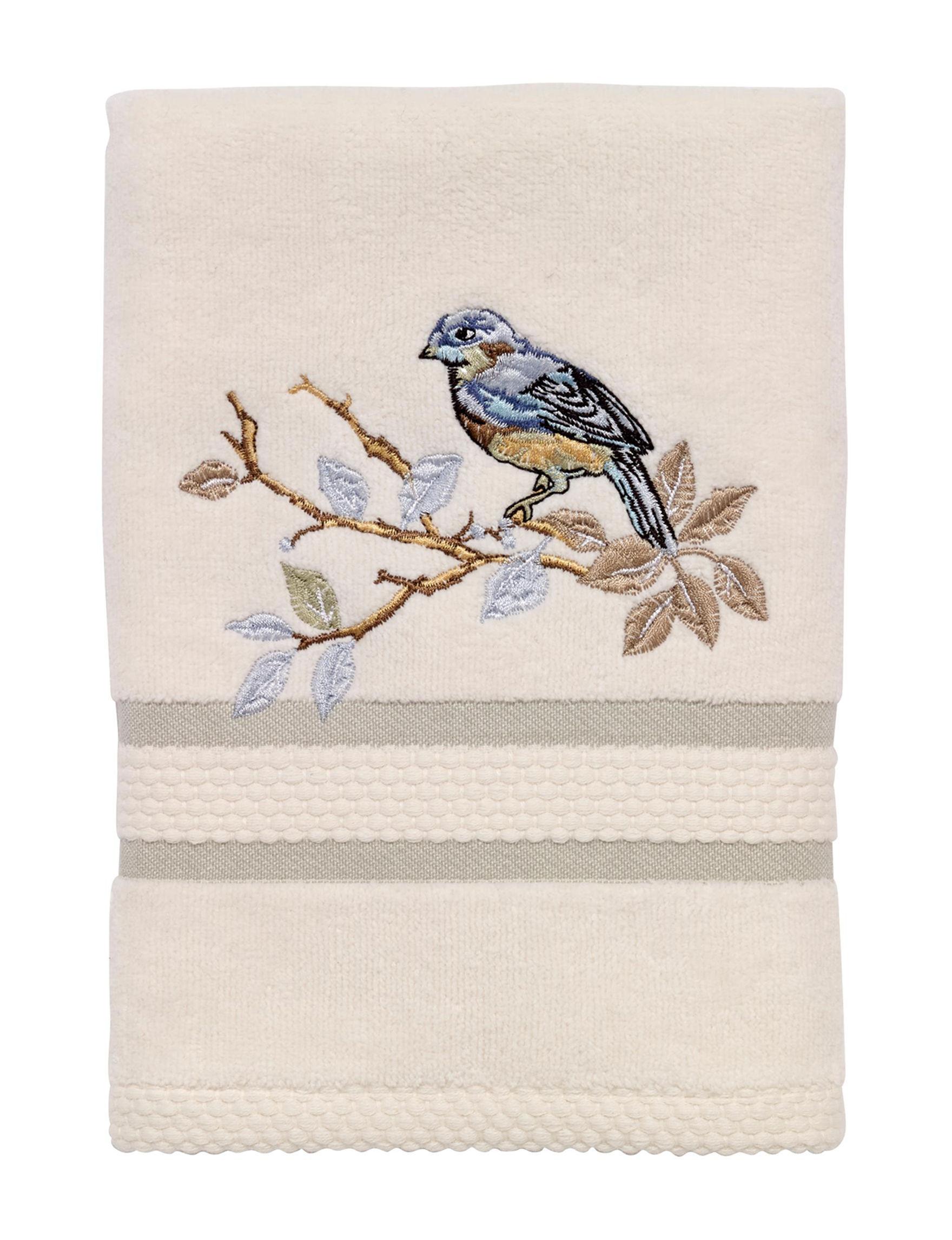 Avanti Beige / Blue Hand Towels Towels