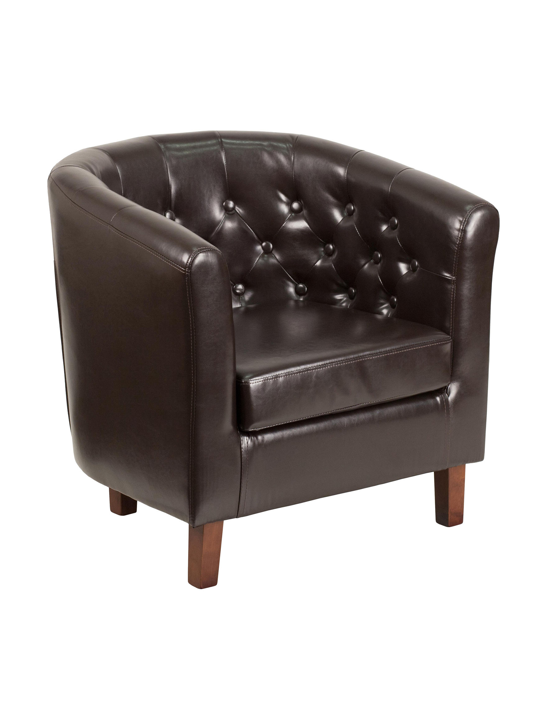 Flash Furniture Brown Accent Chairs Home Office Furniture Living Room Furniture